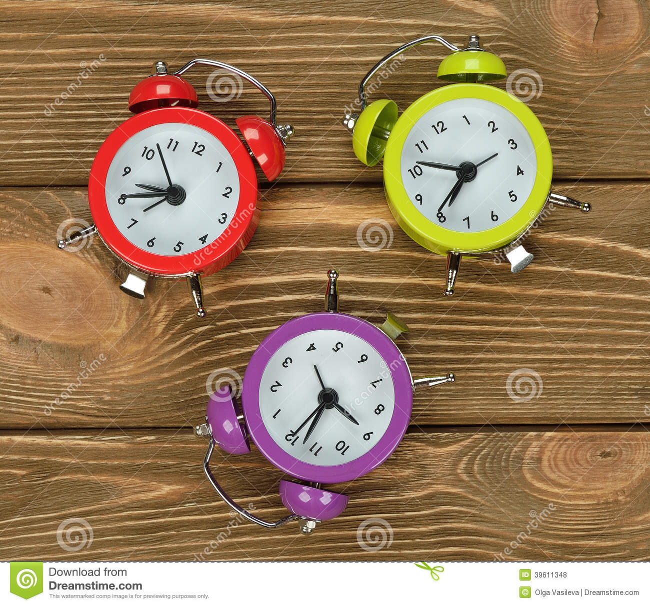Colorful Watches Stock Photo