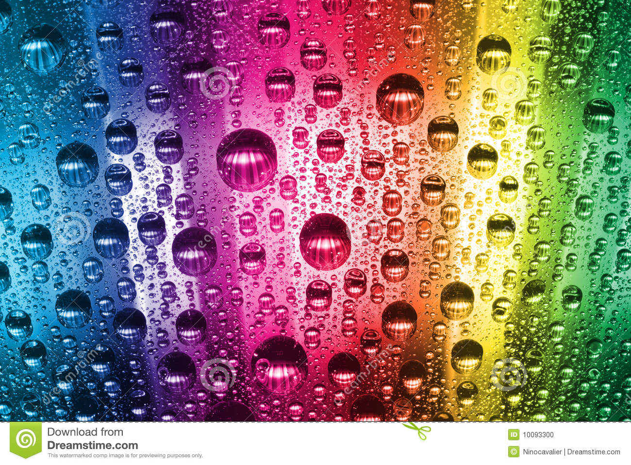 Colorful Water Drops Stock Photo Image Of Droplet Pure
