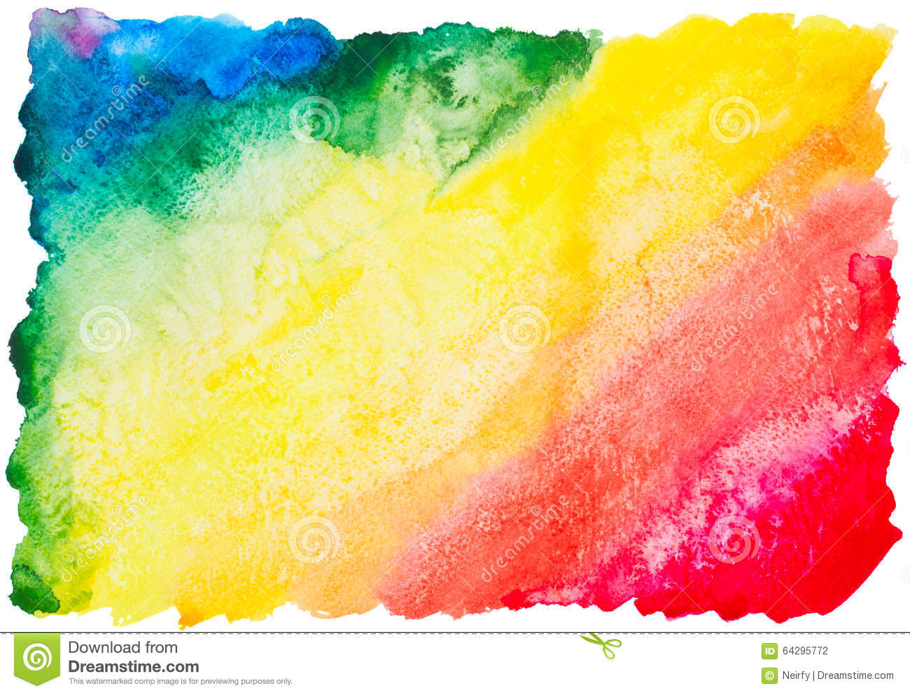 Colorful Watercolor Rainbow Background Stock Photo - Image