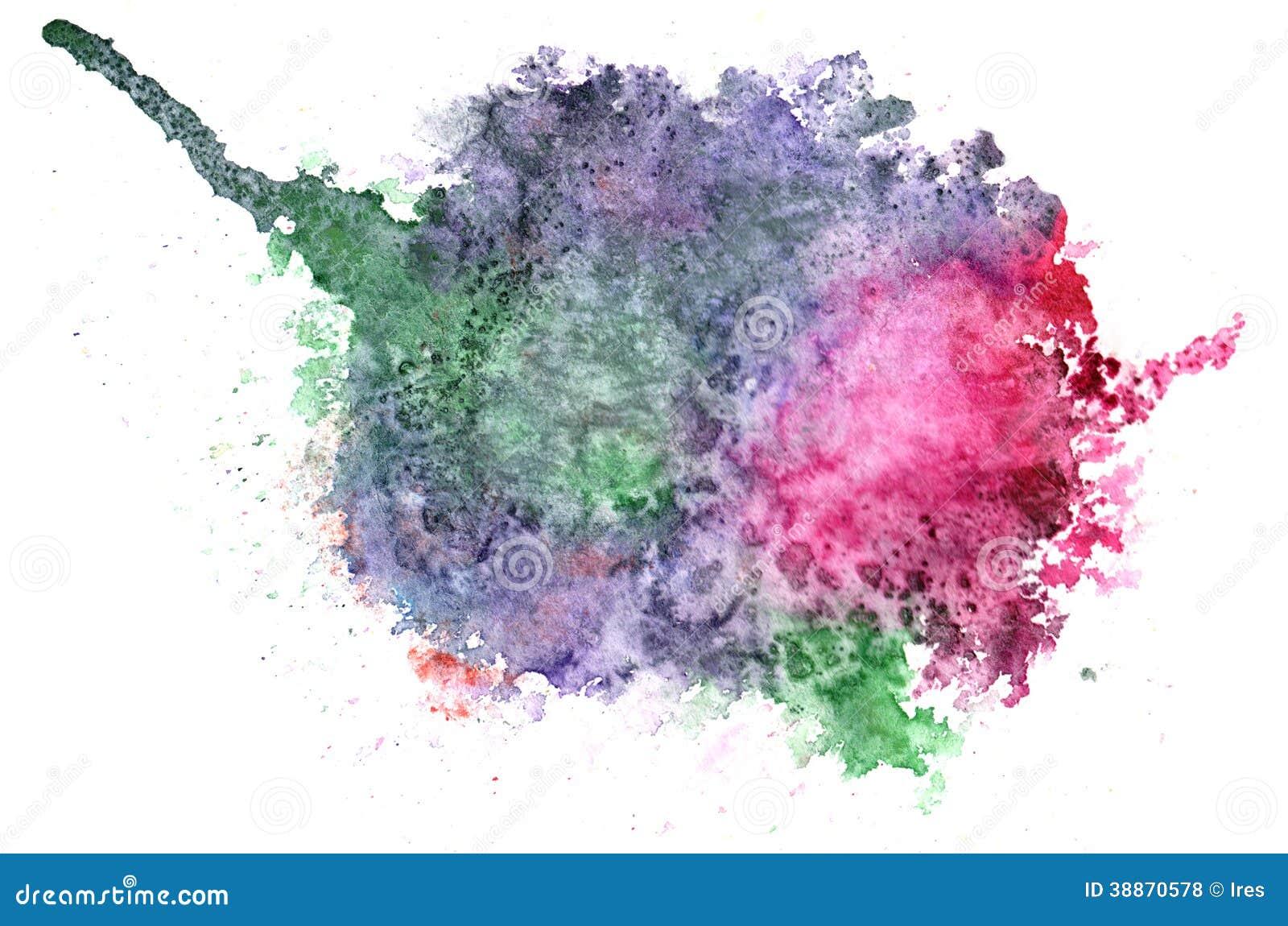 Abstract watercolor aquarelle hand drawn blot colorful ...  Colorful Watercolor Splash