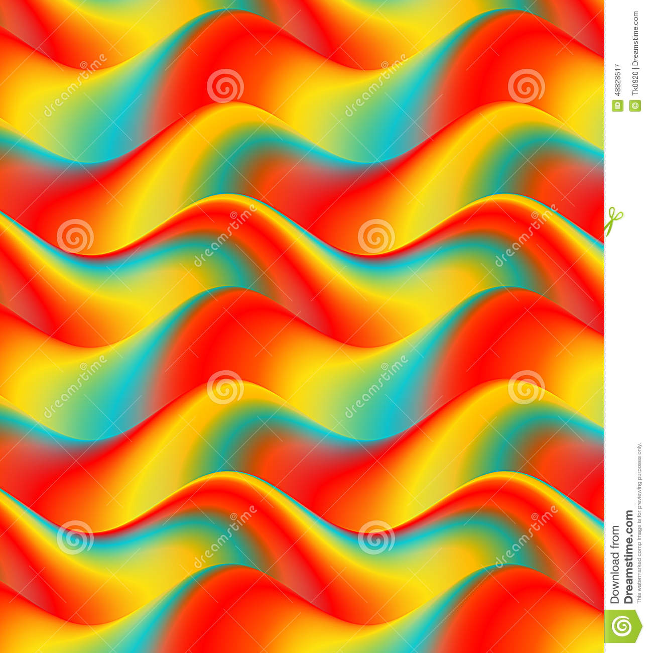 Colorful Waves Background, Abstract Wallpaper Stock
