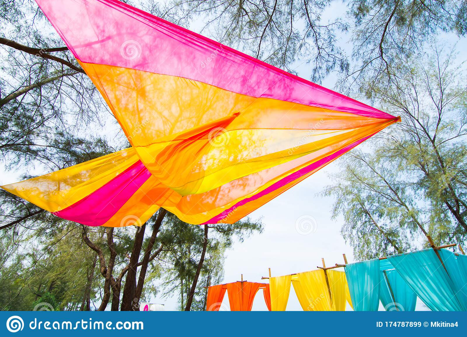 Colorful Wedding Venue Decor With Flower Outdoor Stock Image Image Of Garden Floral 174787899