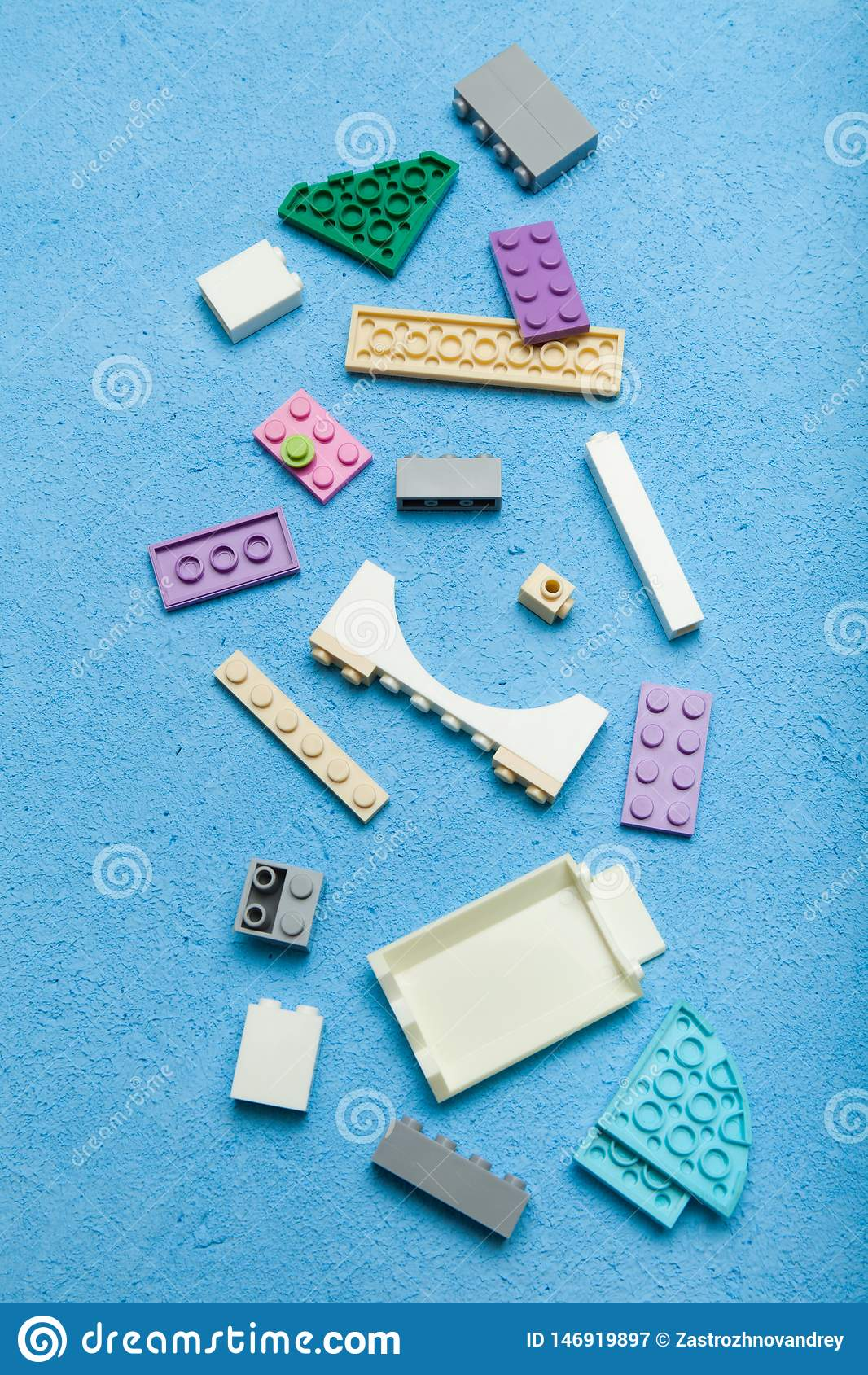 Colorful wood cube building blocks, vertical