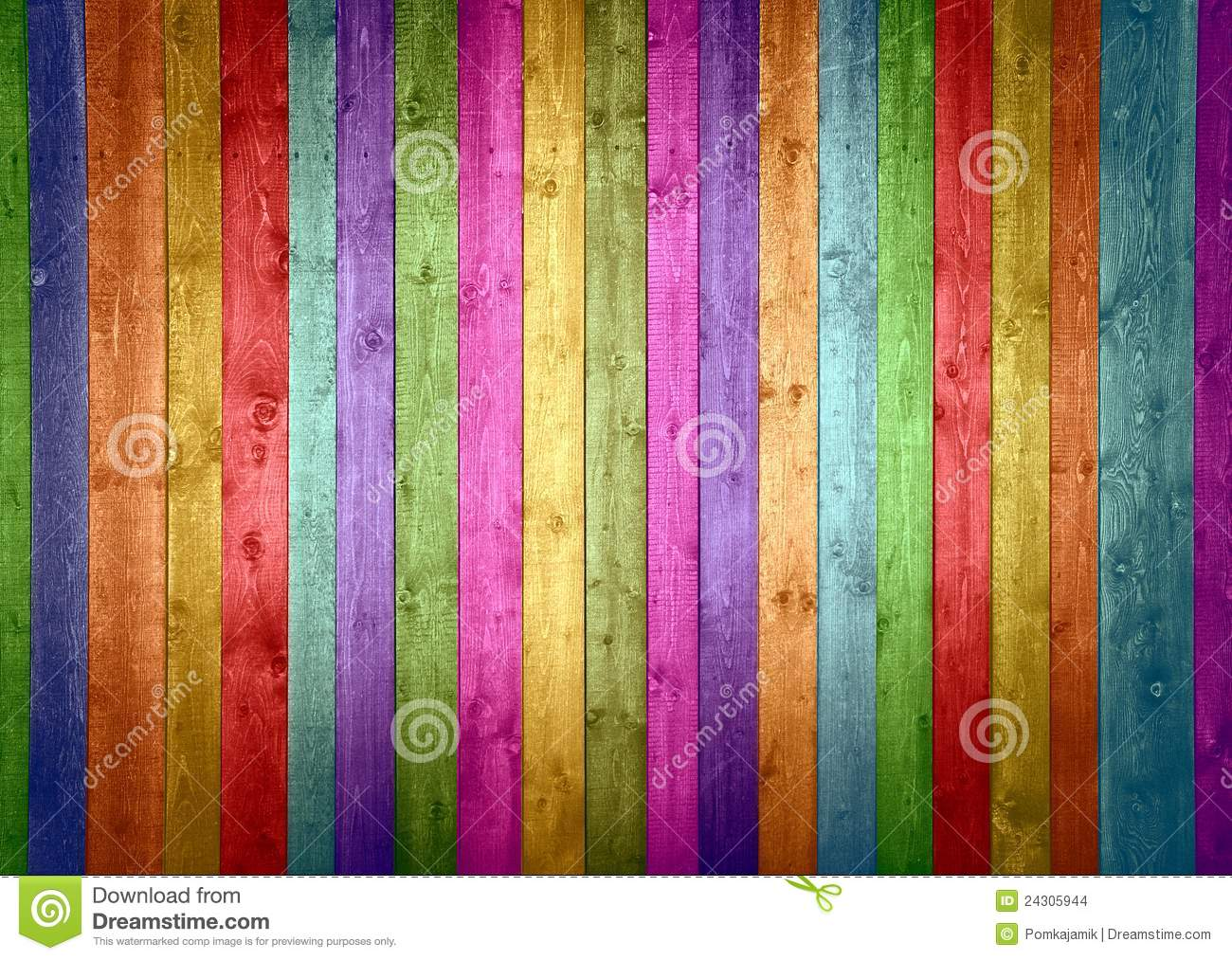 Colorful Wood Planks Stock Images Image 24305944