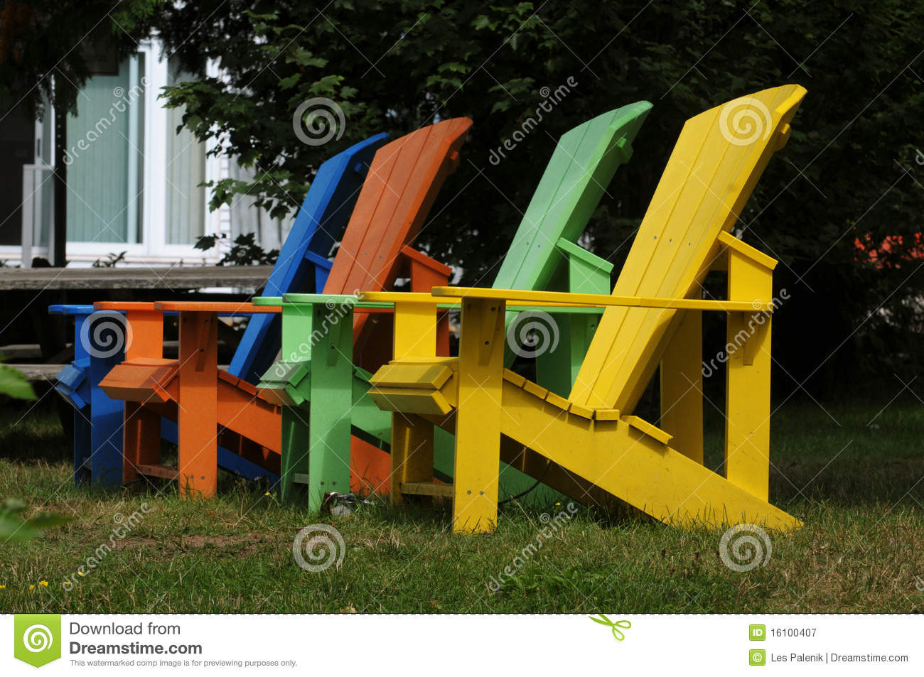 Colorful Wooden Chairs Royalty Free Stock Photography - Image ...