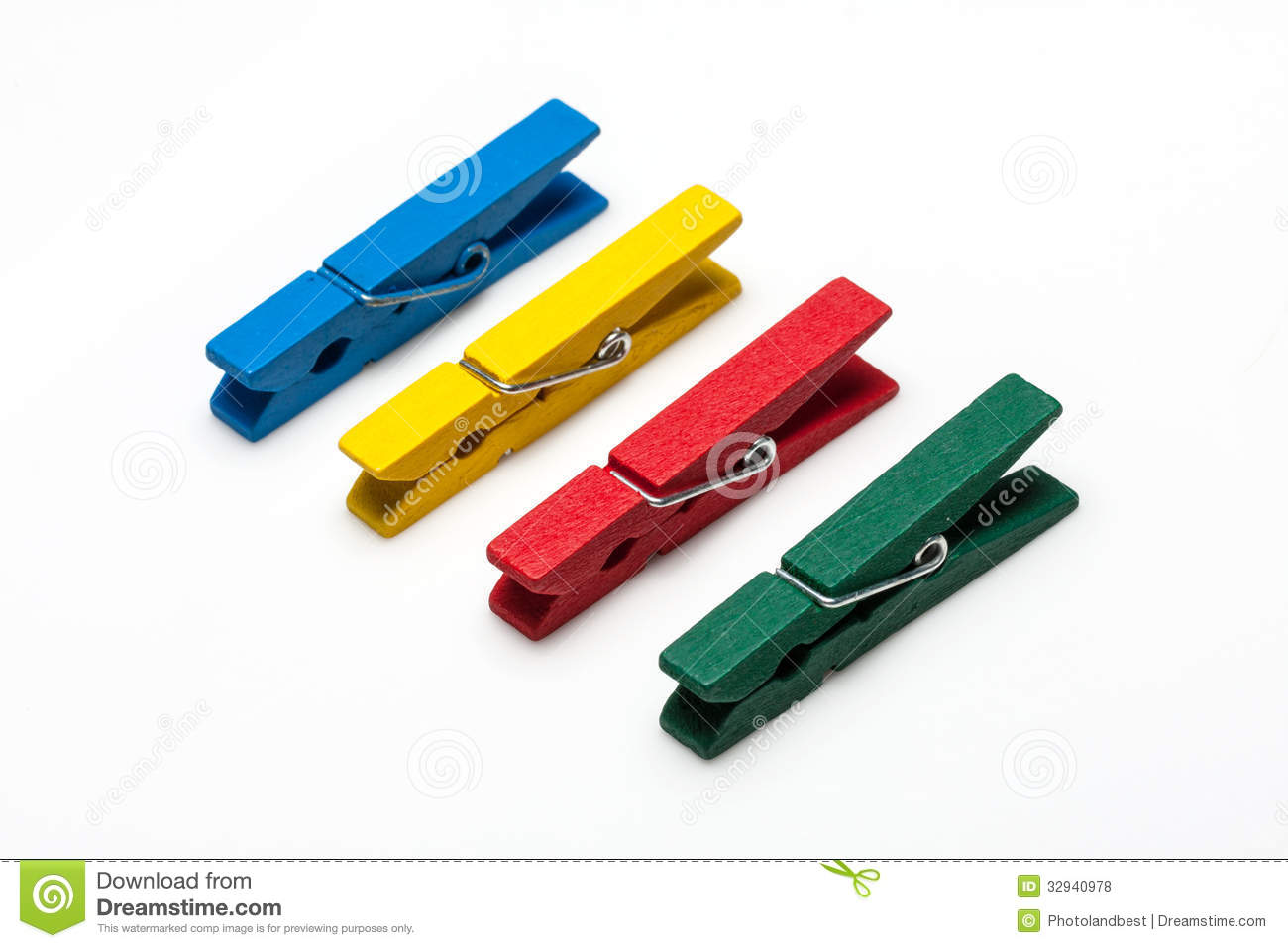 Colorful wooden peg