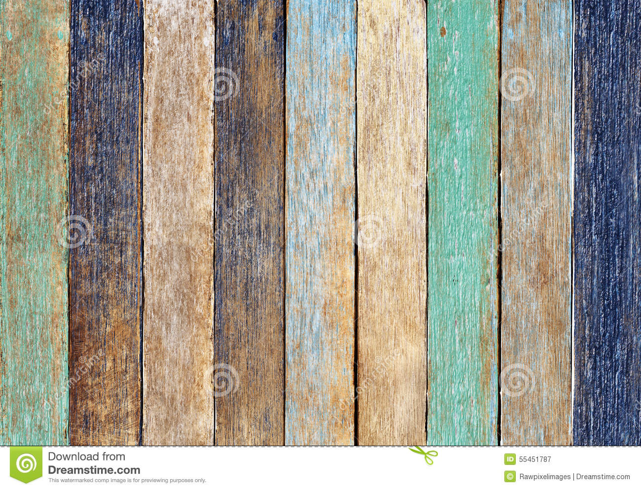 Colorful Wooden Plank Wall Background Concept Stock Image