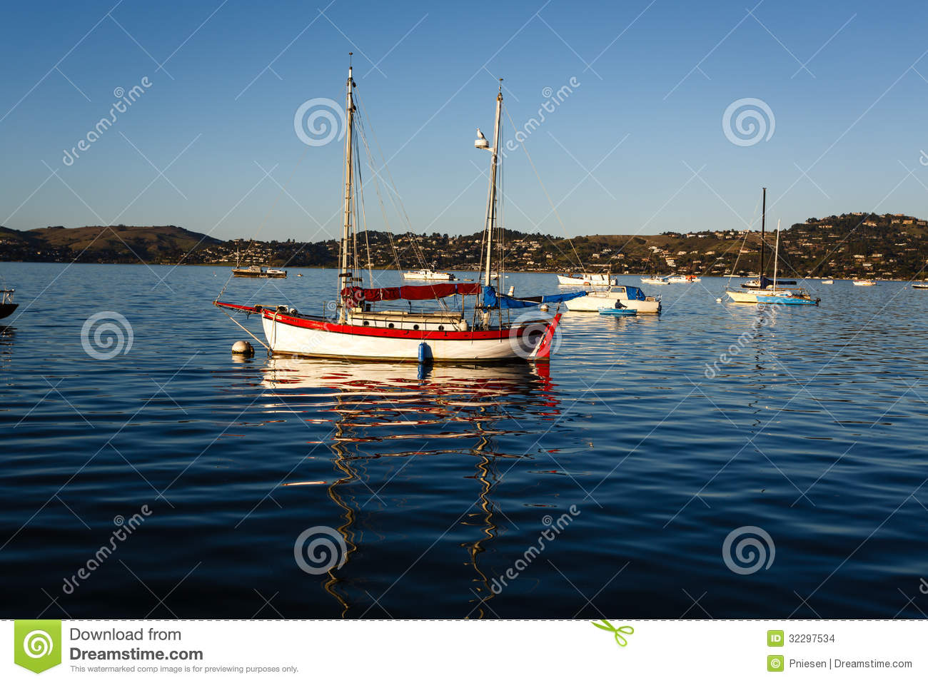 Colorful Wooden Sail Boat Stock Images - Image: 32297534