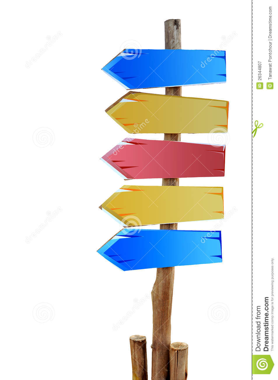 Colorful Wooden Sign Board Royalty Free Stock Photography - Image ...