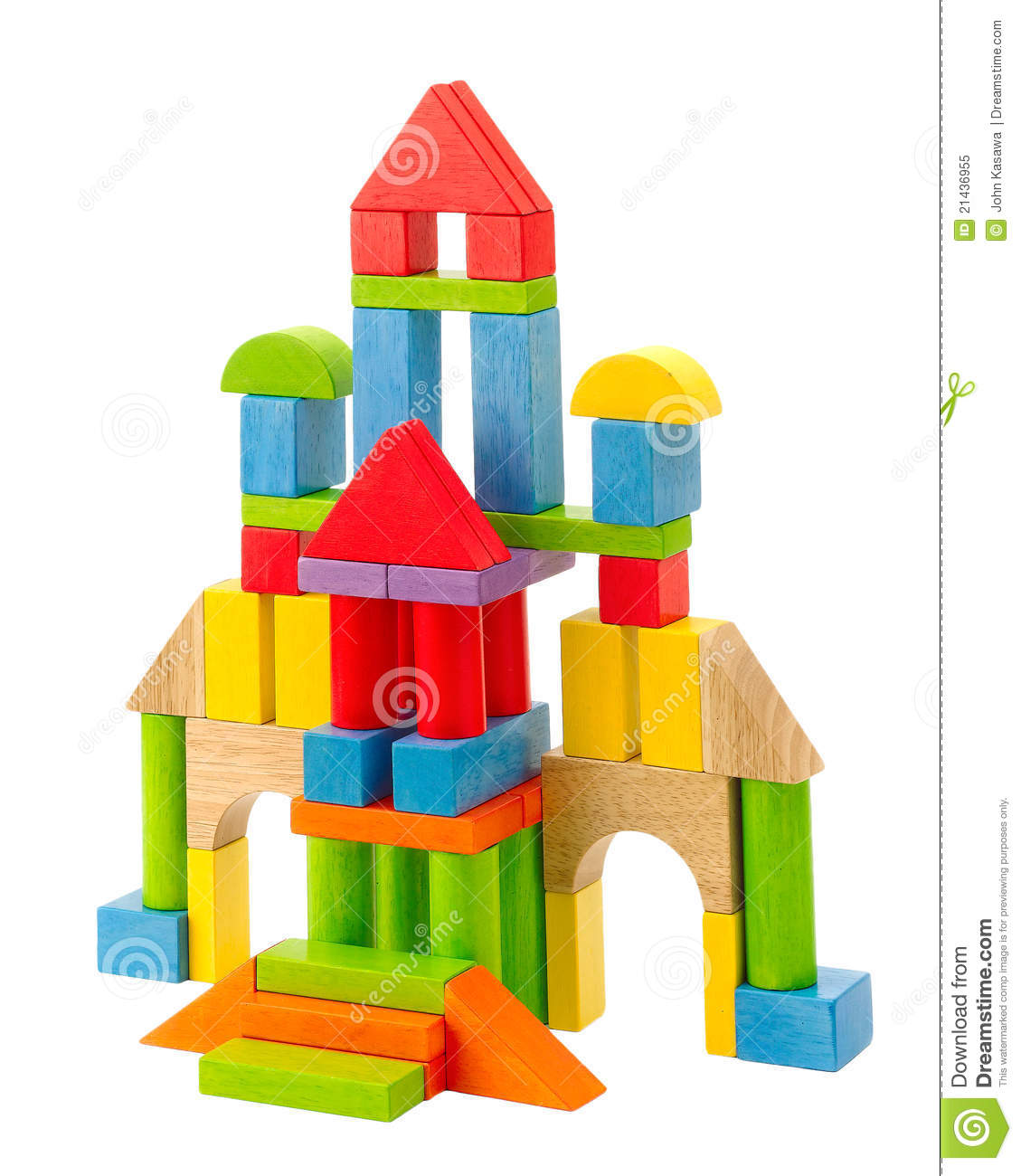 Best Castle Toys For Kids : Colorful wooden toy castle stock image of childhood