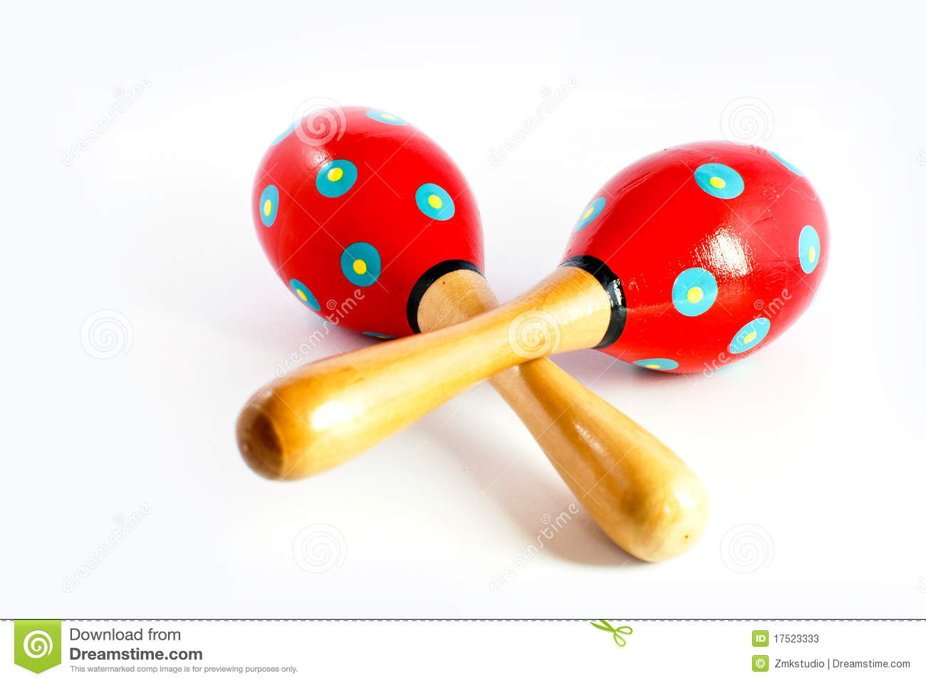 Colorful Wooden Toy Maracas Stock Photos - Image: 17523333