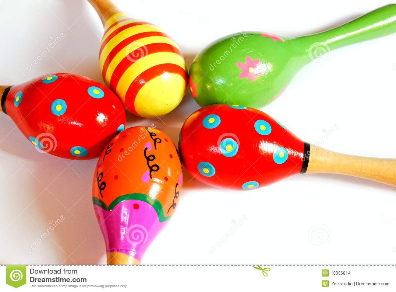 colorful wooden toy maracas stock photo image of background music