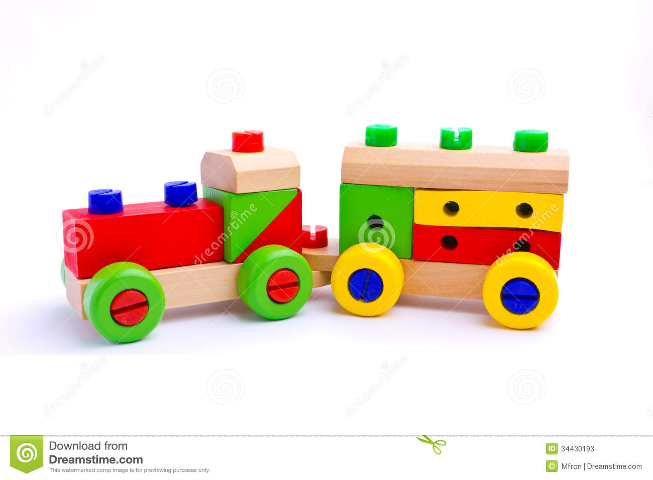 Colorful Wooden Toy Train Stock Photos - Image: 34430193