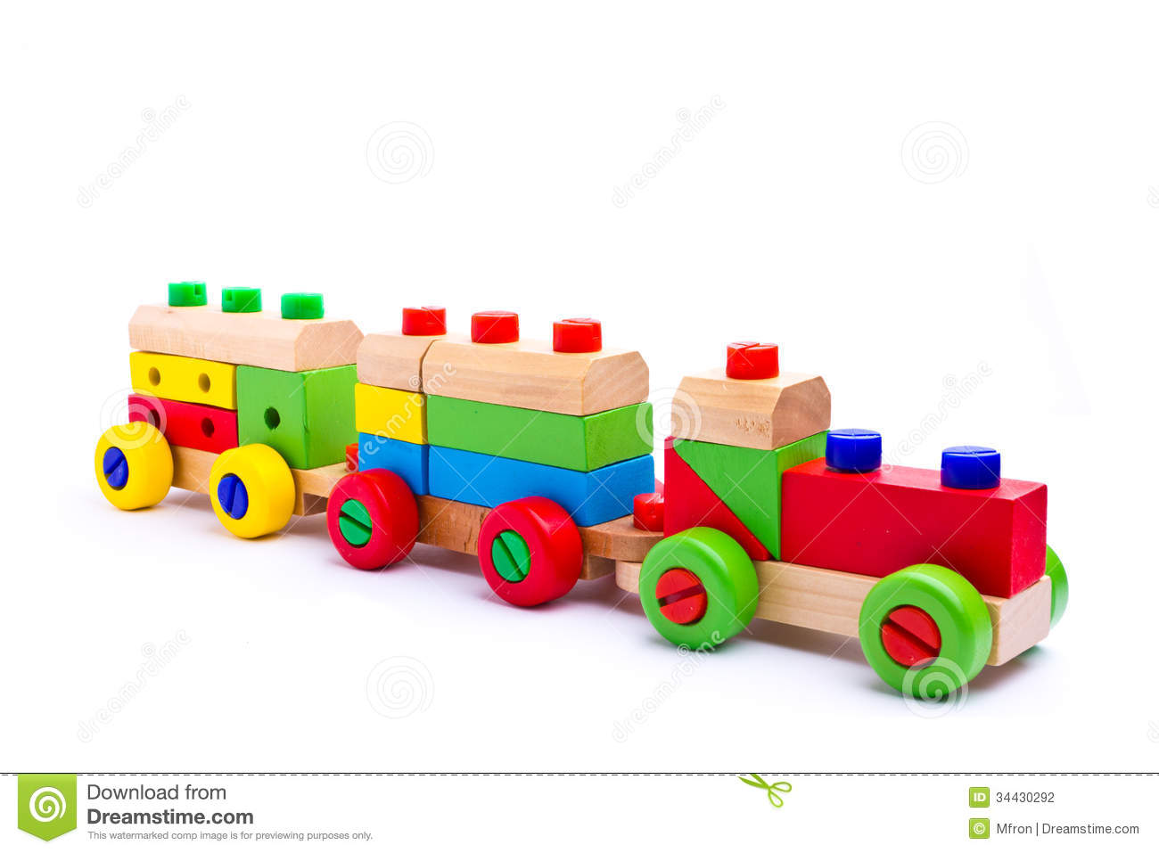 Colorful Wooden Toy Train Stock Photography - Image: 34430292