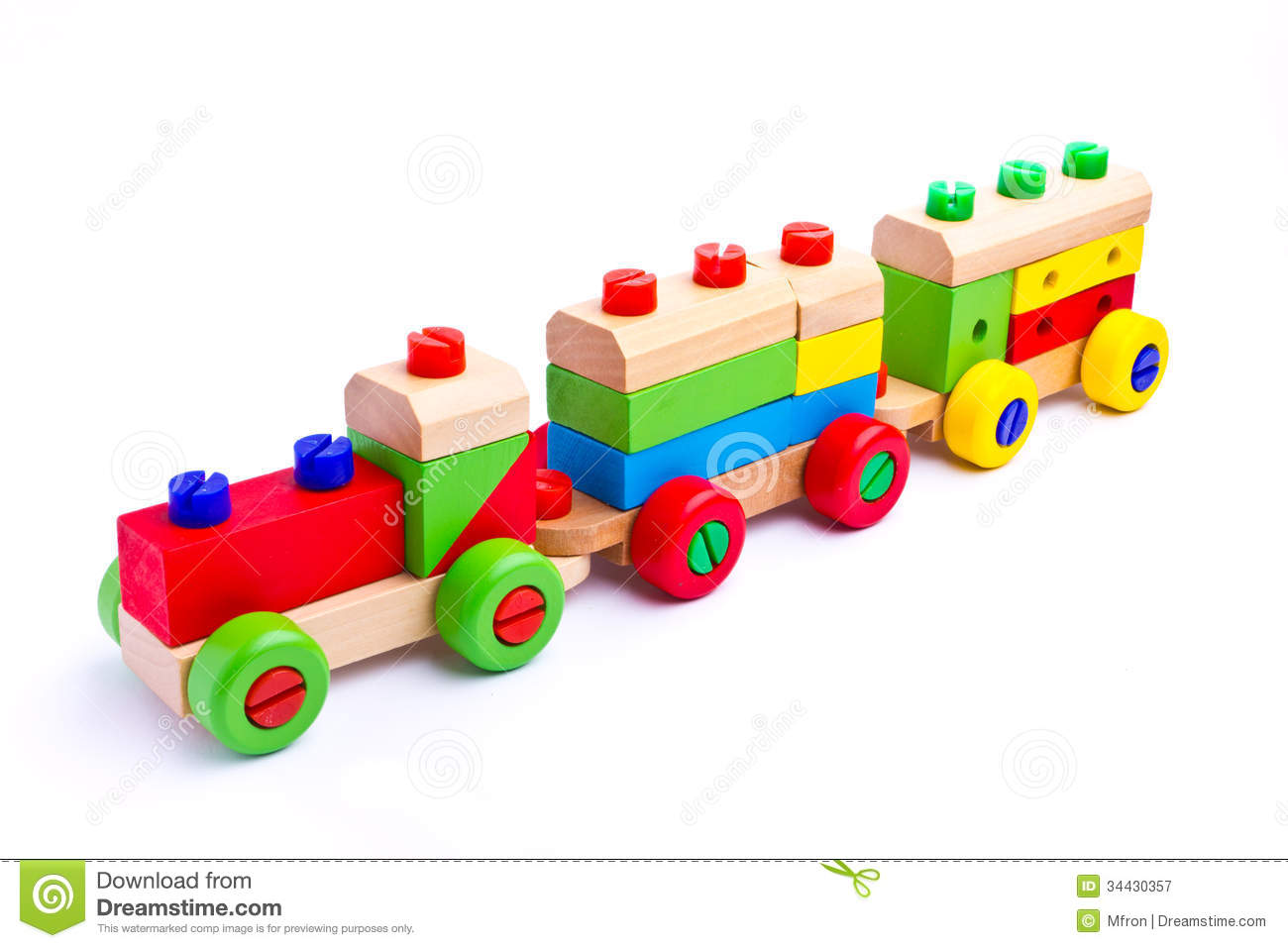 Colorful Wooden Toy Train Royalty Free Stock Photography ...