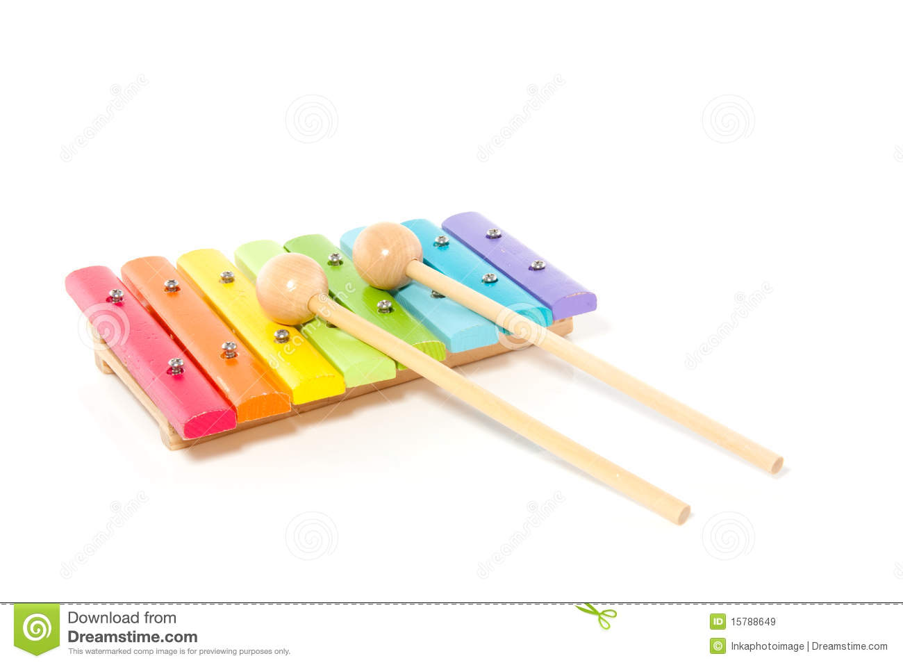 A colorful wooden xylophone royalty free stock images