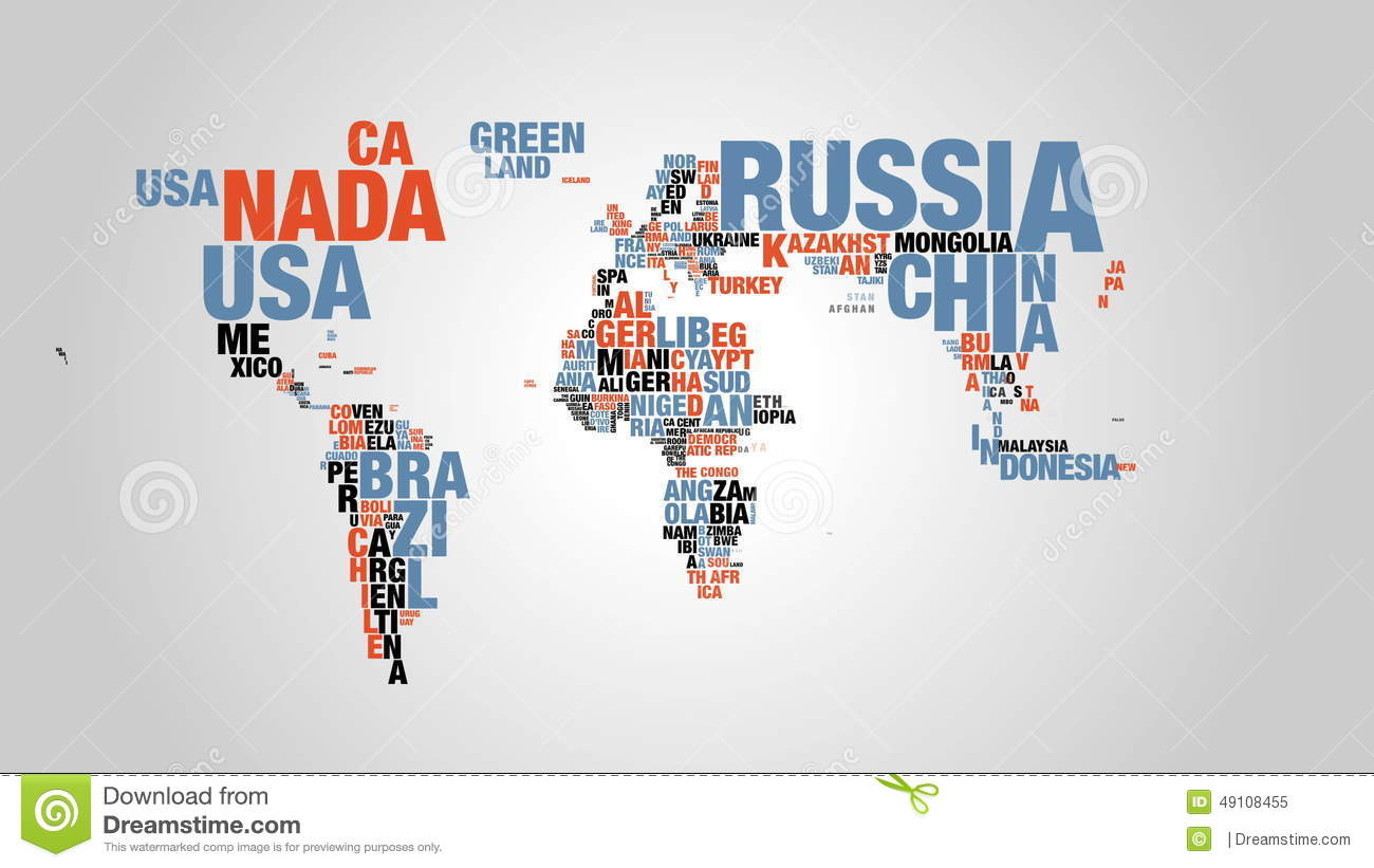 Word Cloud Of World Map In K Resolution Stock Footage Video - 4k us map