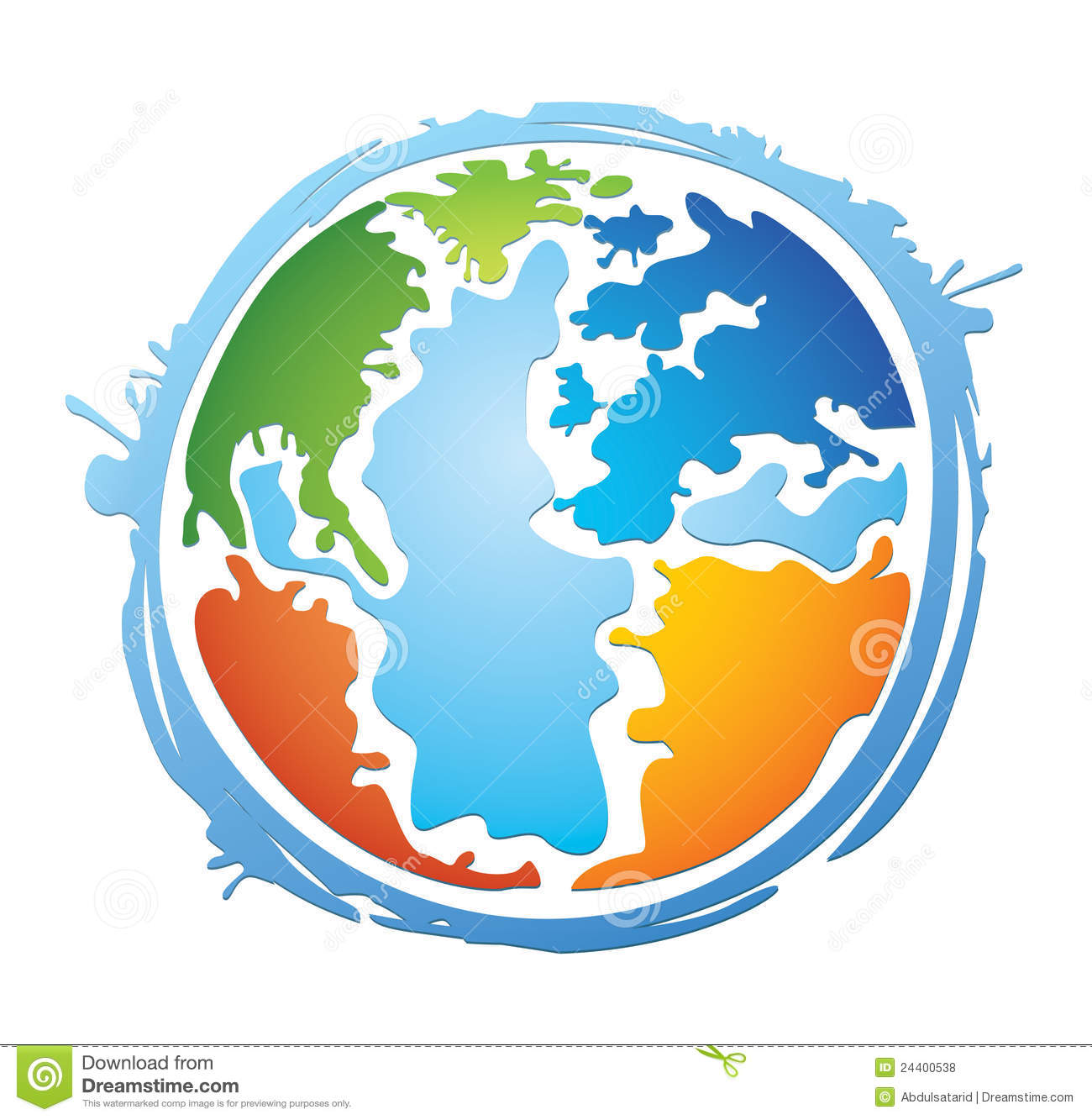 World: Colorful World Globe Stock Vector. Image Of Cheerful