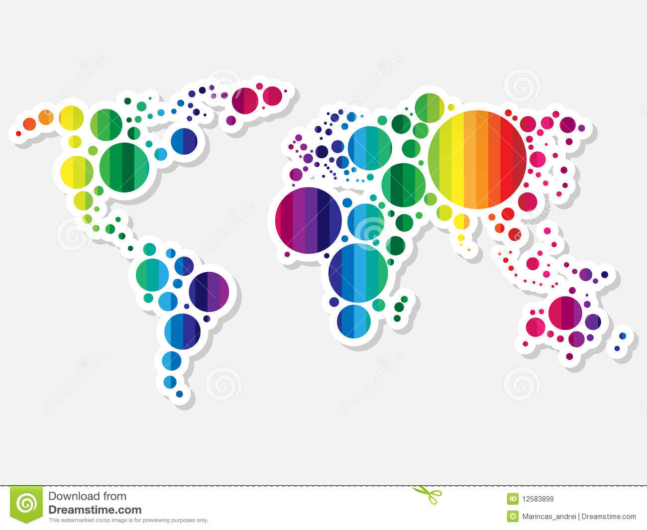 Colorful World Map Stock Vector Image Of Nation Area - Colorful world map