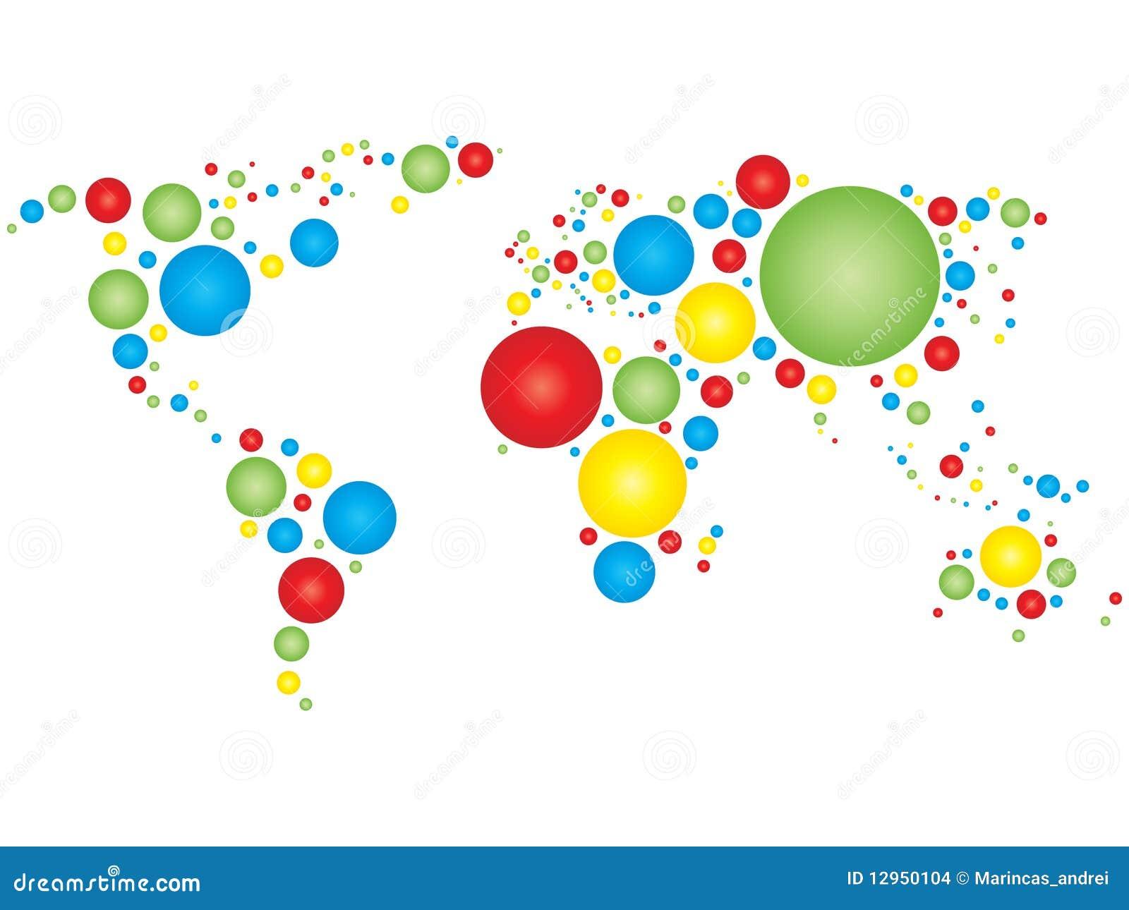 colorful world map stock images image 12950104. Black Bedroom Furniture Sets. Home Design Ideas