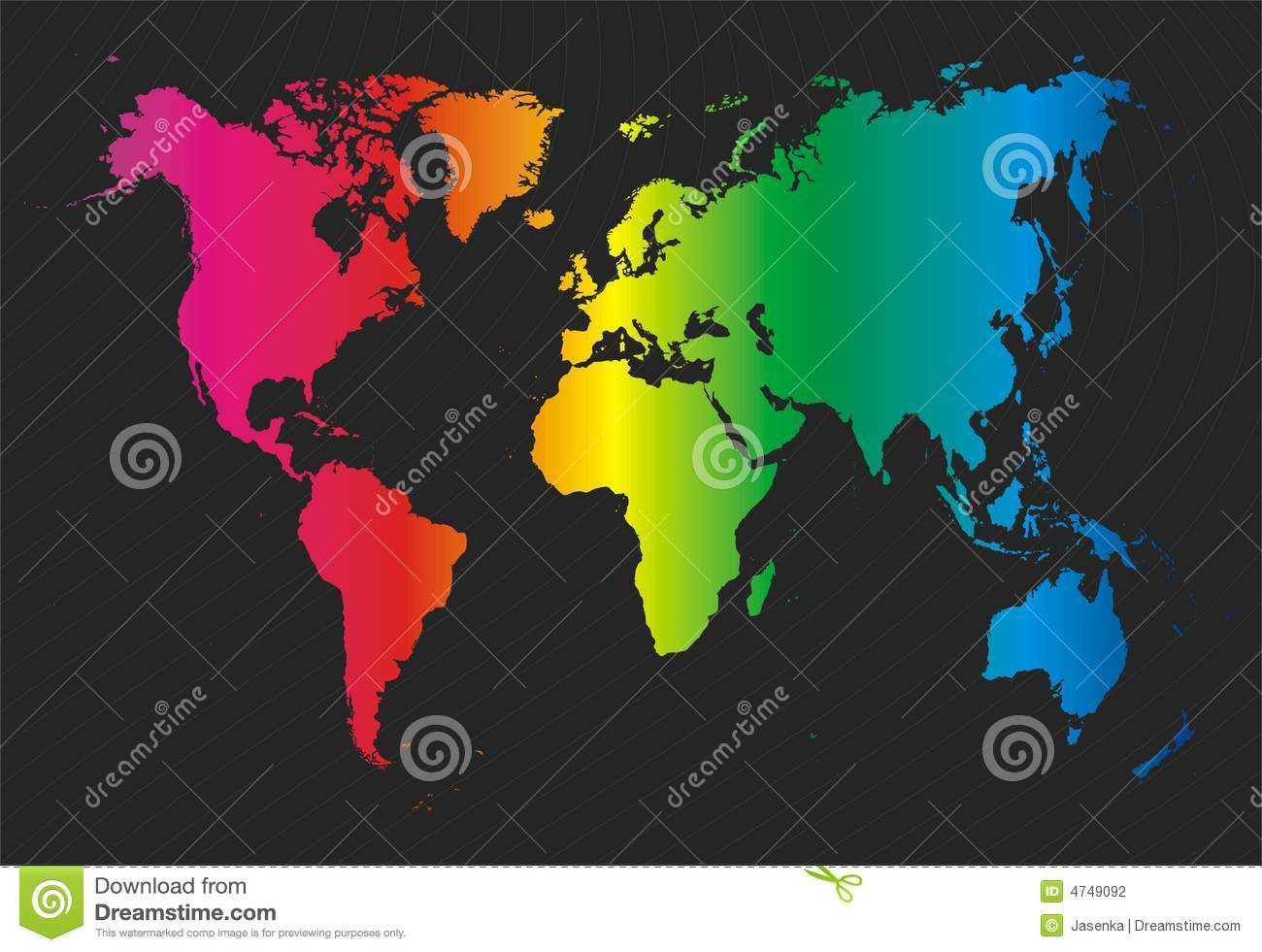 Colorful World Map Stock Photography Image 4749092