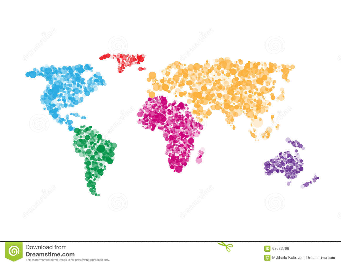 Colorful World map stock vector. Illustration of international