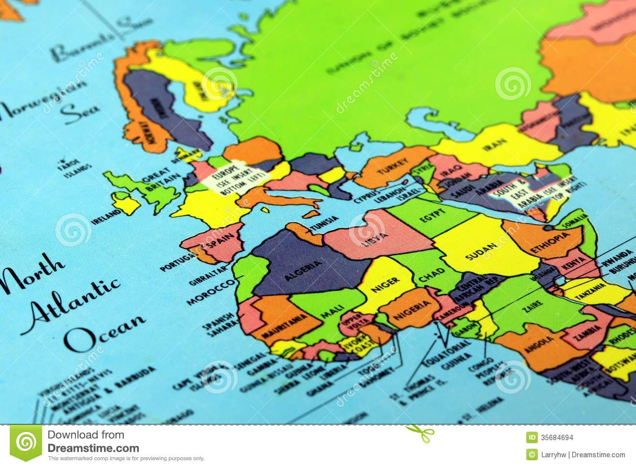 Colorful world map stock photo image of geography trip 35684694 colorful world map gumiabroncs Choice Image
