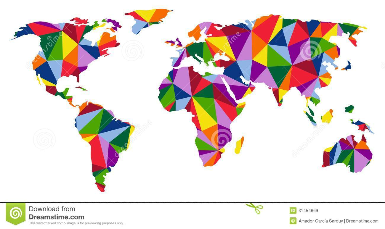 Colorful World Map Royalty Free Stock Images Image 31454669