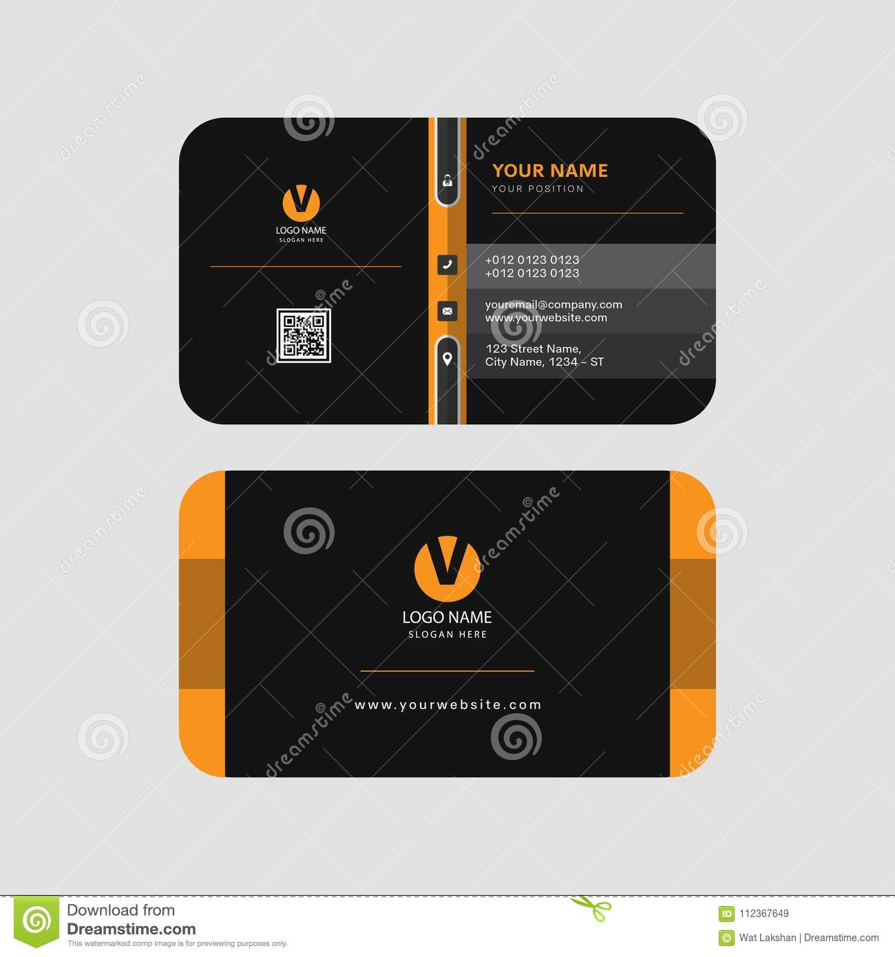 Colorful yellow and black color modern professional business card download colorful yellow and black color modern professional business card template invitation card creation stock vector accmission Gallery