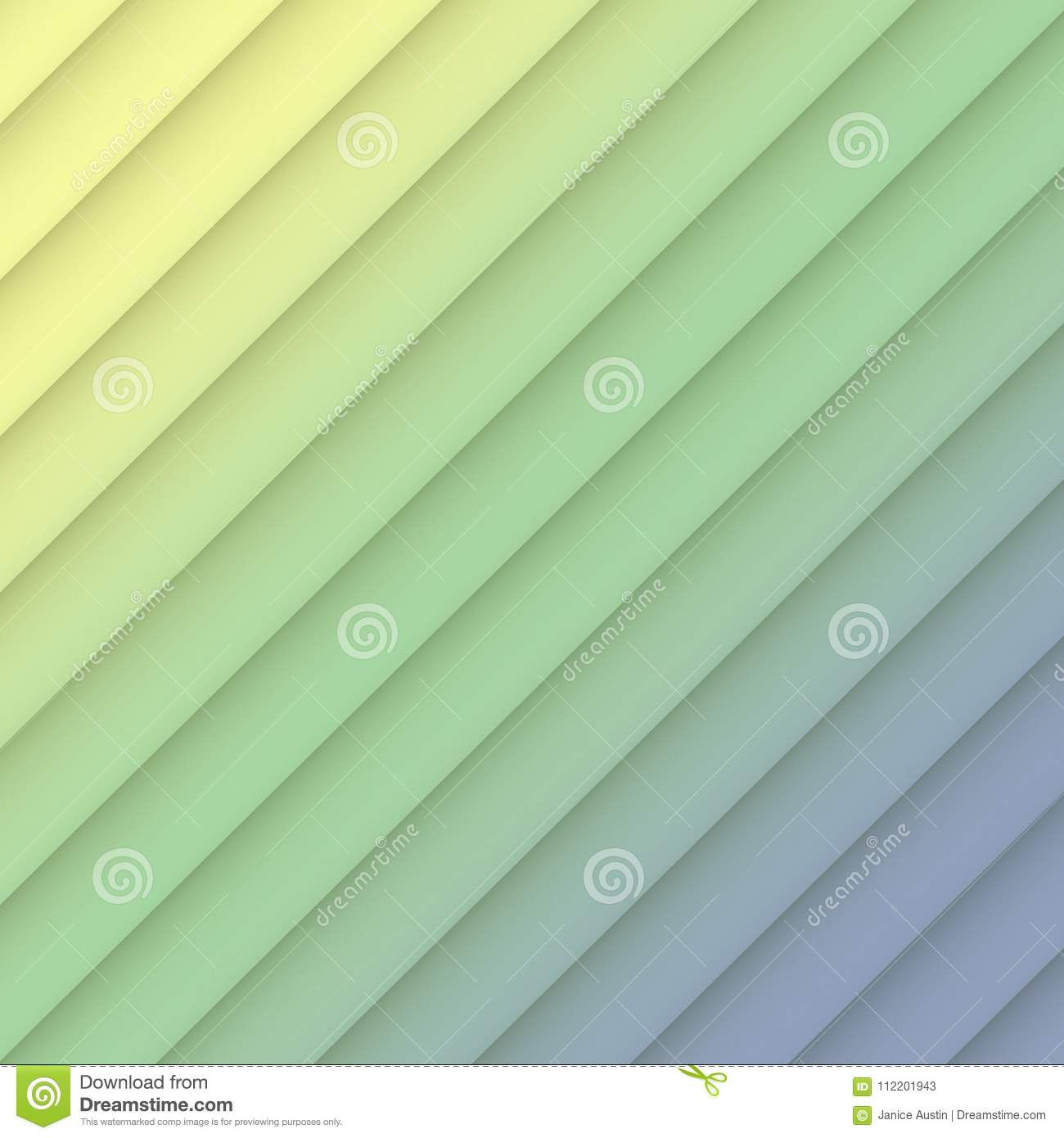 Colorful Yellow Green Blue Geometric Diagonal Lines Abstract