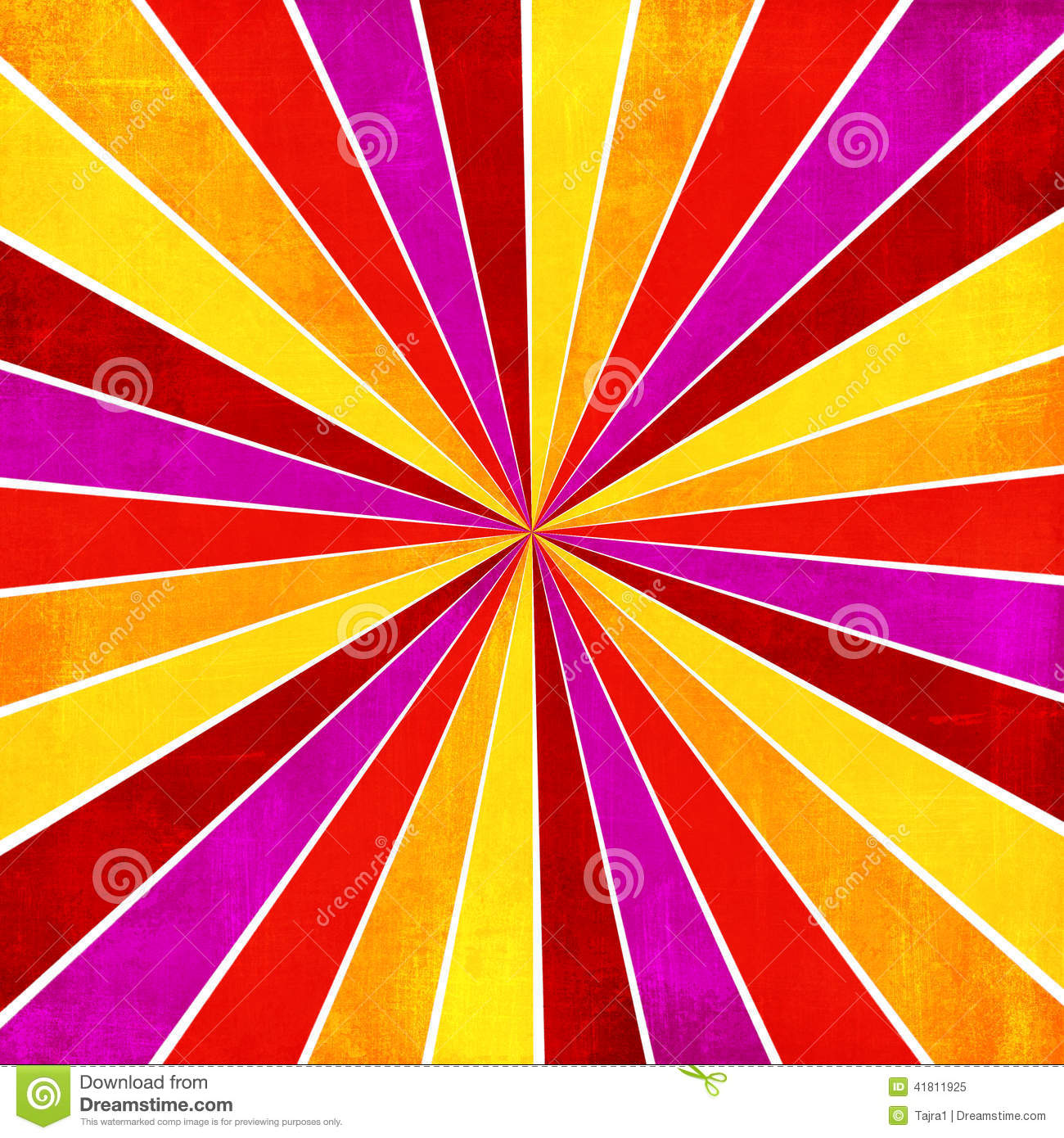 Colorful Yellow, Pink, Orange And Red Ray Sunburst Style ...