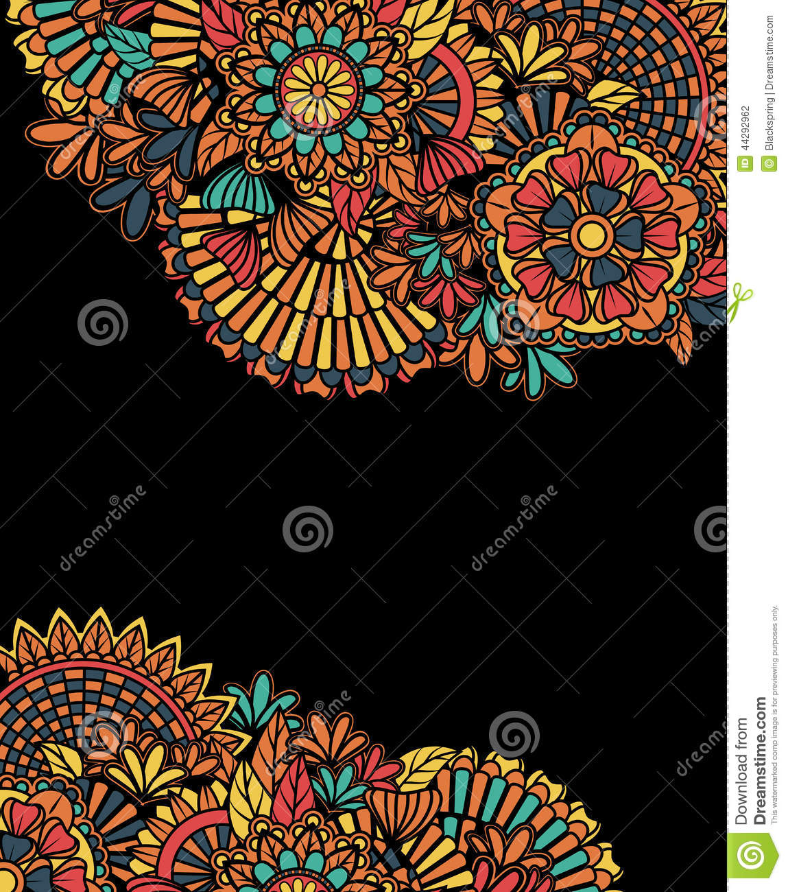 Colorful Zentangle Background Stock Vector - Image: 44292962