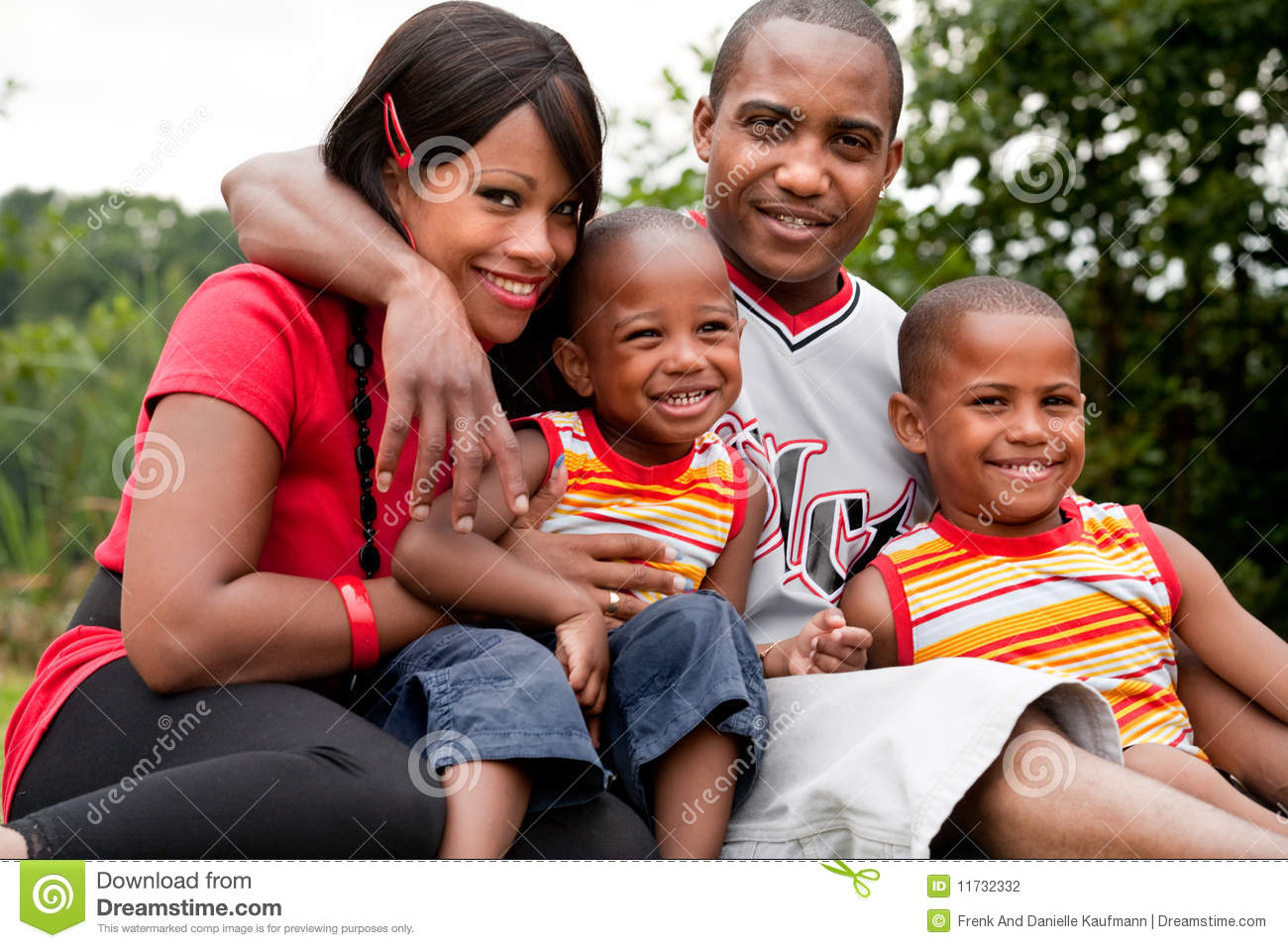 Colorfull african family