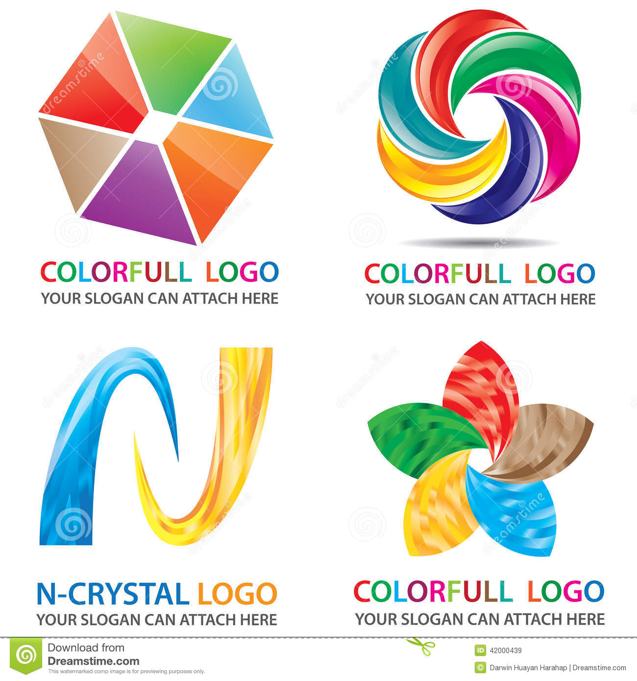 Colorfull 3D Look Logo Template