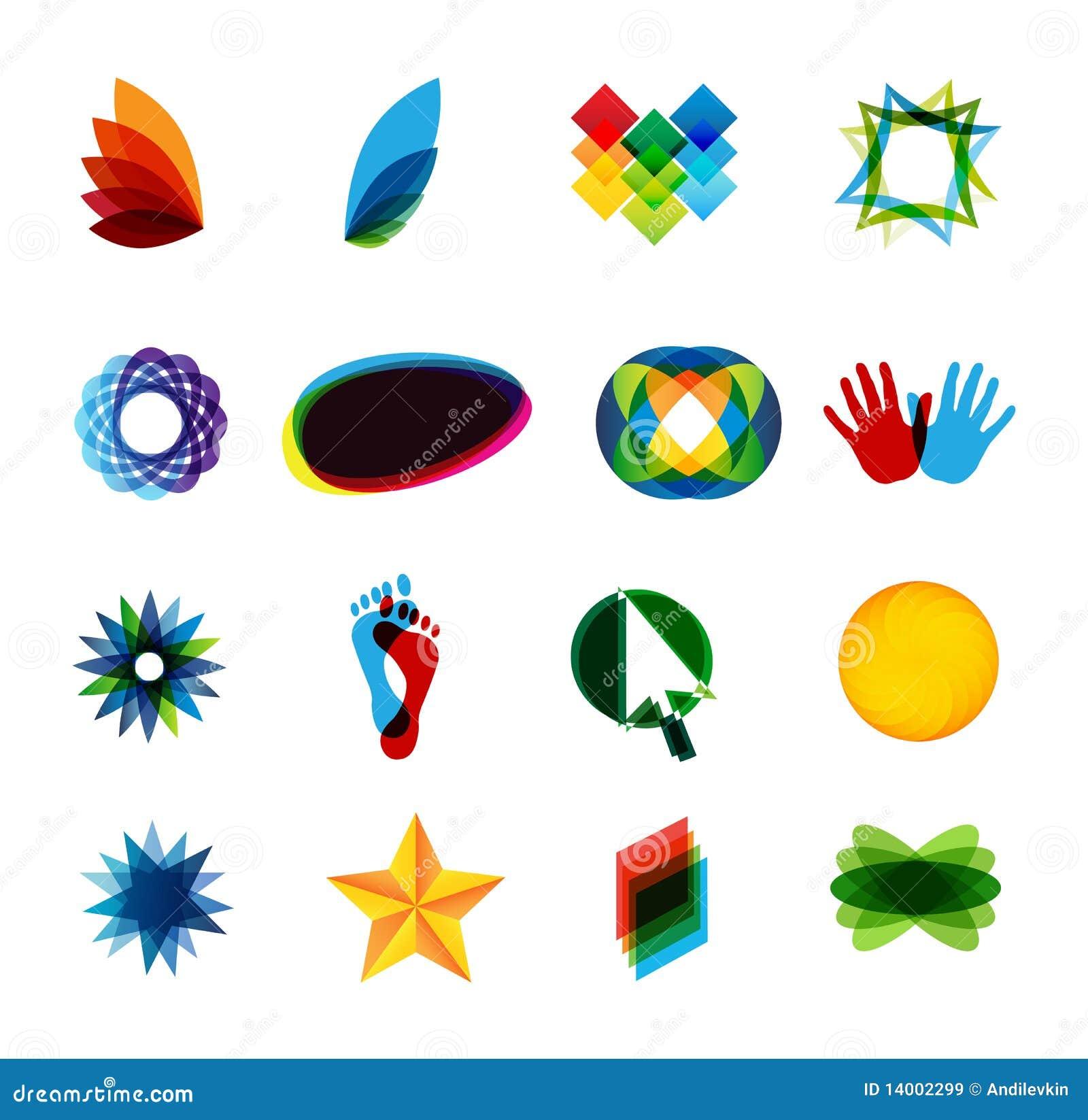 Colorfull Logo Elements Royalty Free Stock Images - Image