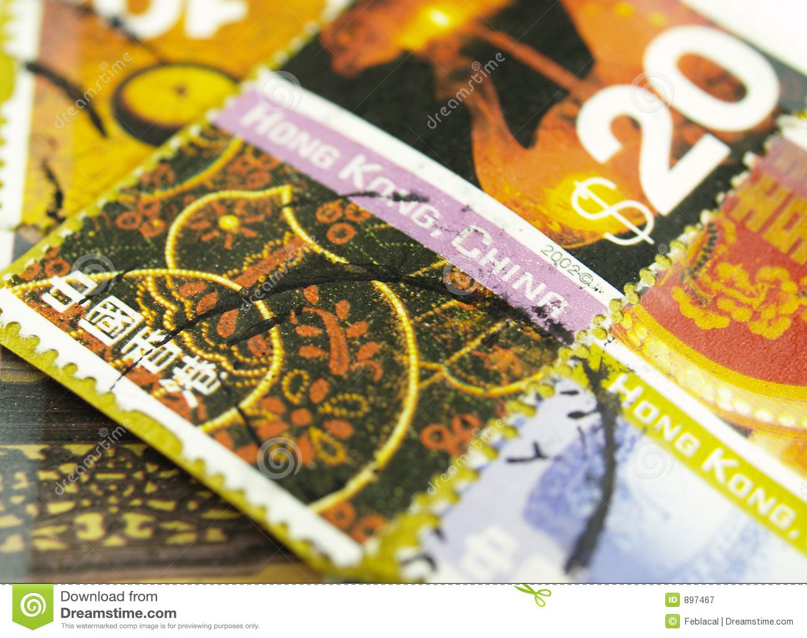 Colorfull pocztę znaczki międzynarodowych