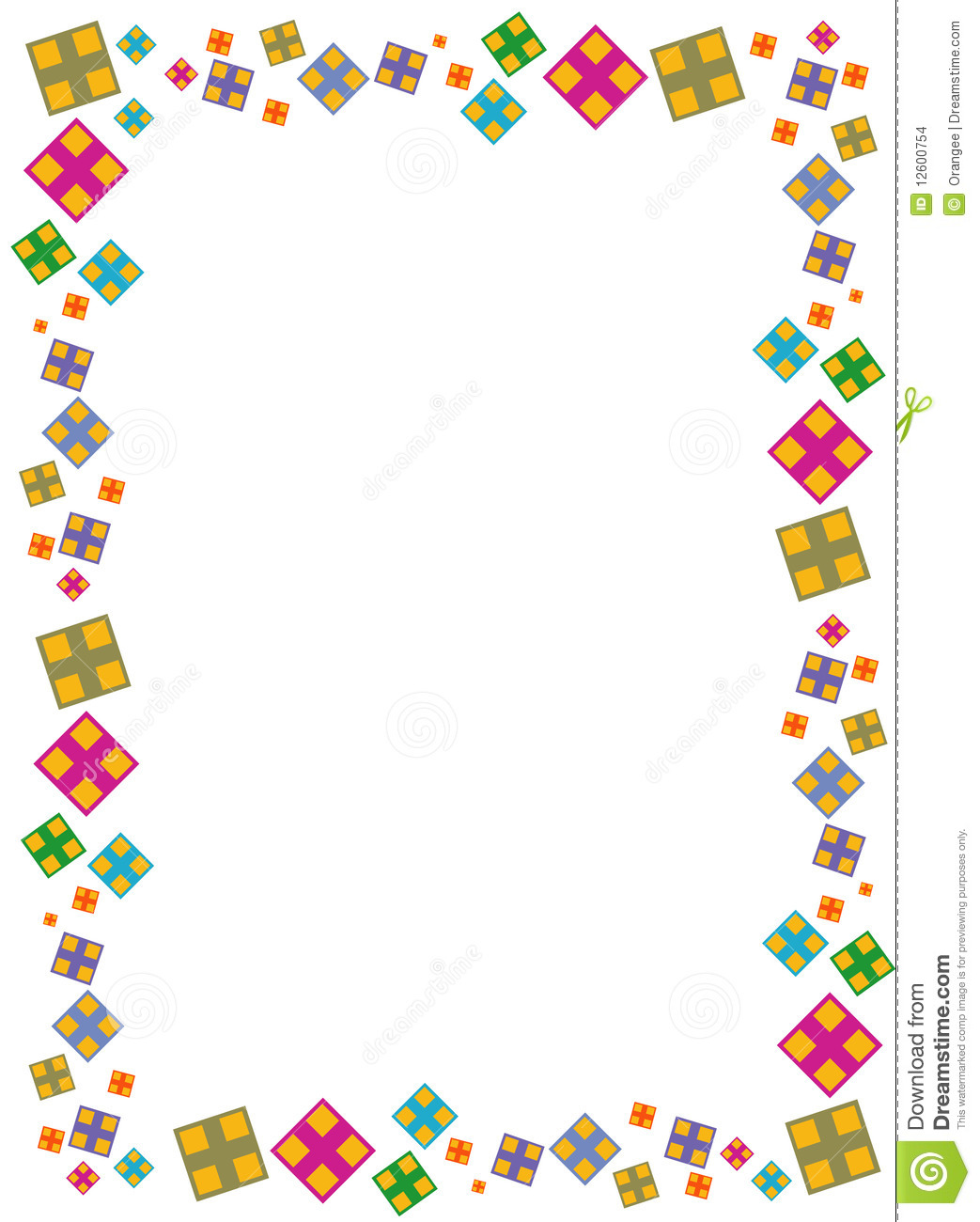 Colorfull Square Border Stock Vector Image Of Curve