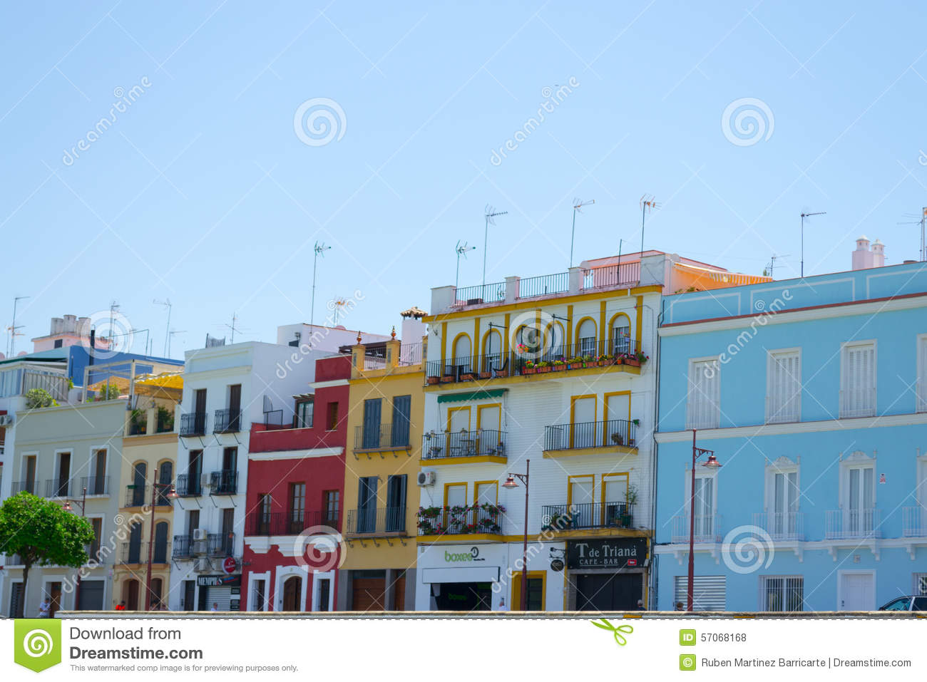 Colorfullhuizen in Triana