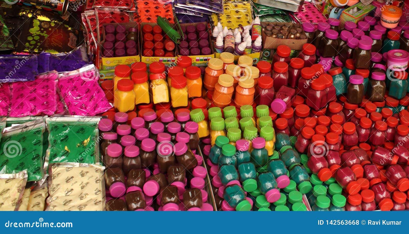 Colori del festival di Holi in India