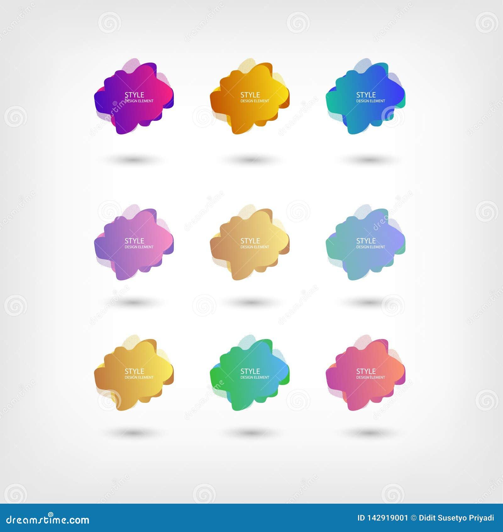 Colori il fondo fluido di pendenza di sovrapposizione di colore dei modelli di semitono liquidi astratti di forma Forme al neon c