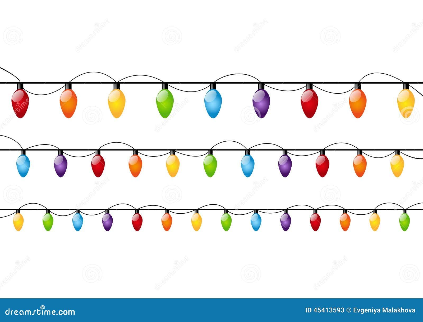 Colori Le Lampadine Di Natale Illustrazione Vettoriale - Immagine: 45413593