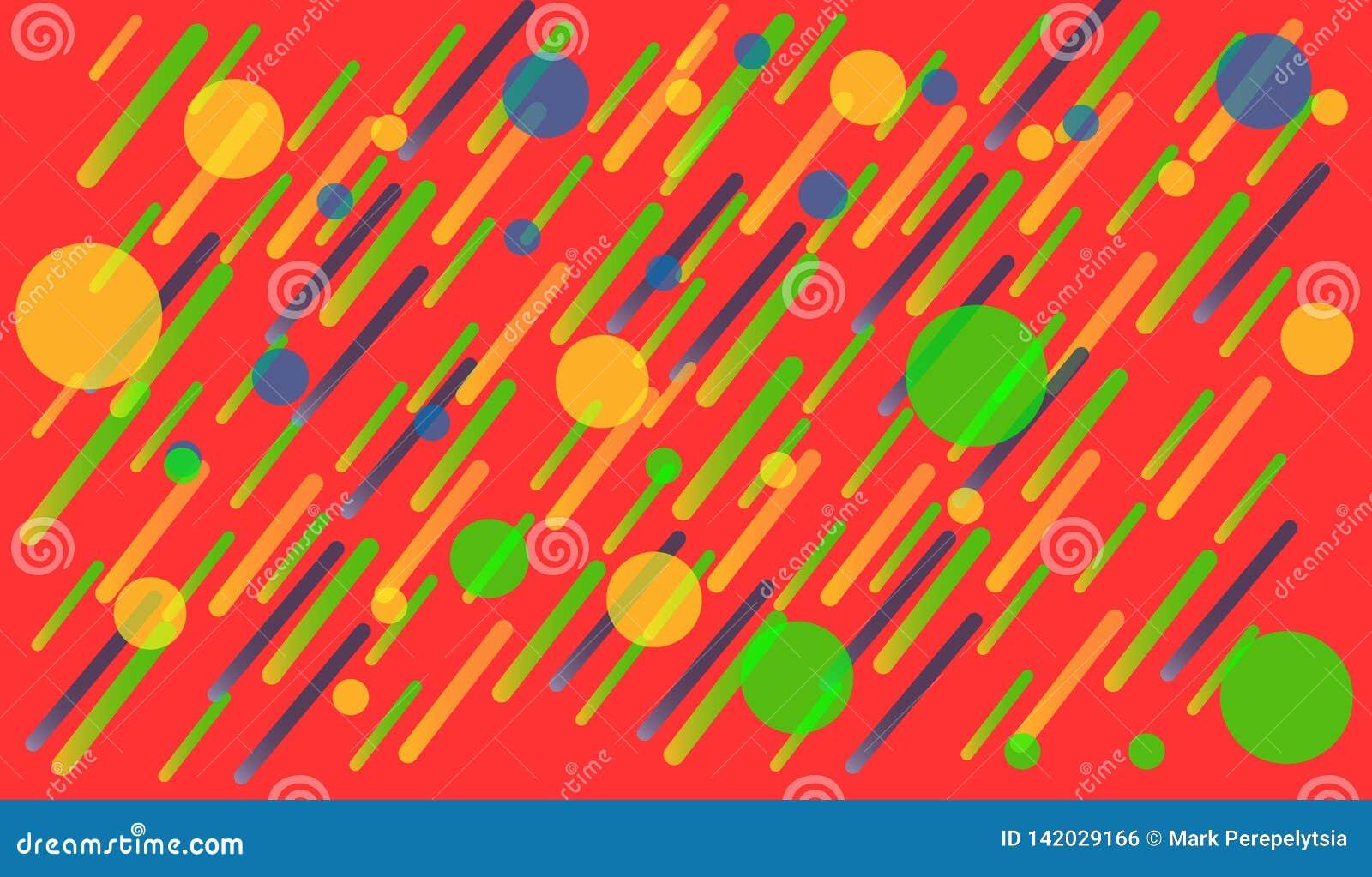 Colori luminosi del fondo geometrico e composizioni dinamiche in forma Illustrazioni di vettore