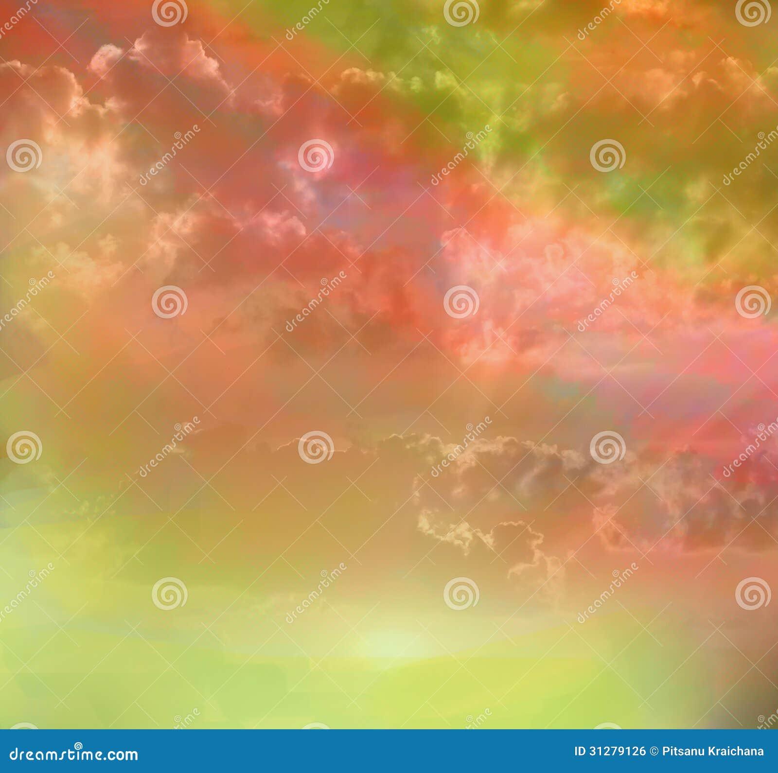 Colori stupefacenti dell 39 arcobaleno del cielo immagine - Immagine del mouse a colori ...