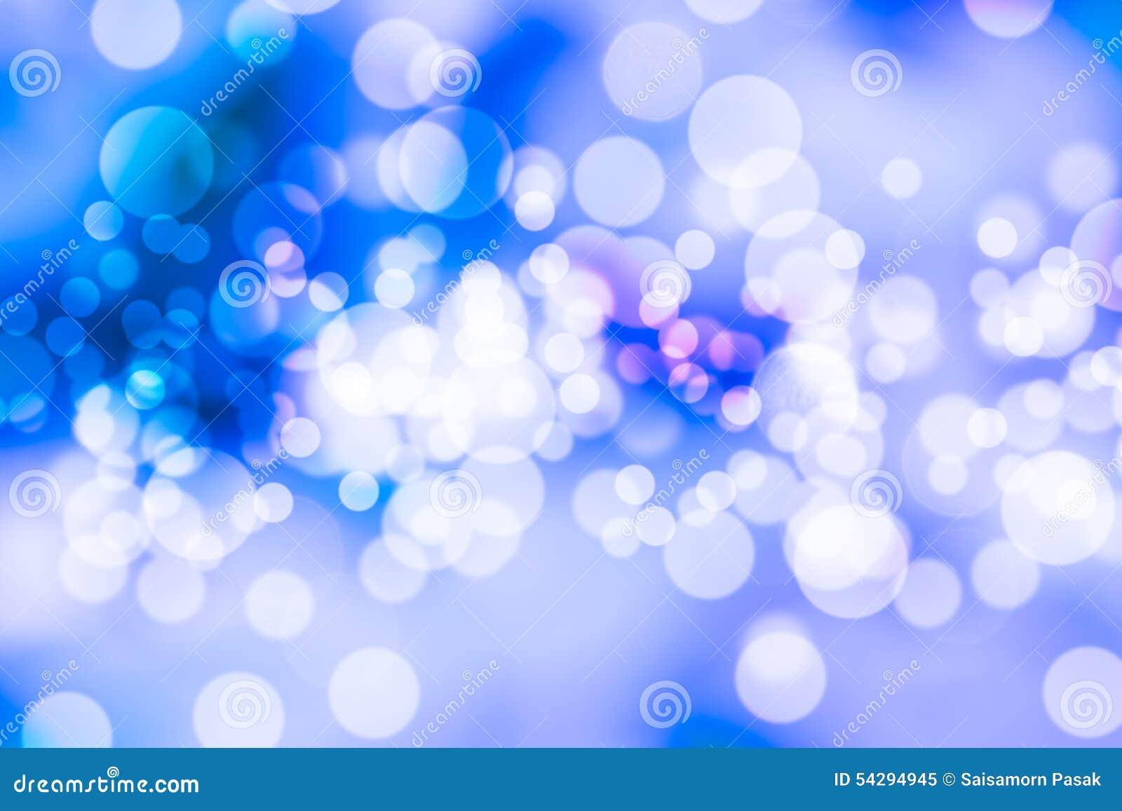 Colorido da luz azul do bokeh borrada