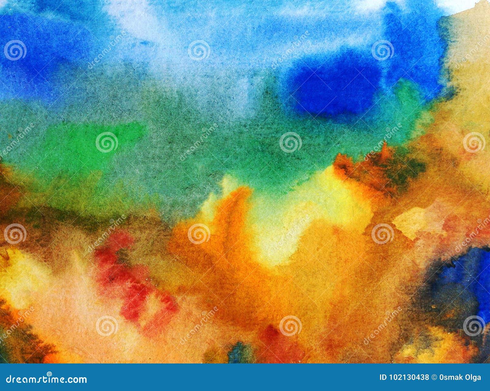 Colorido del extracto del fondo del arte de la acuarela texturizado