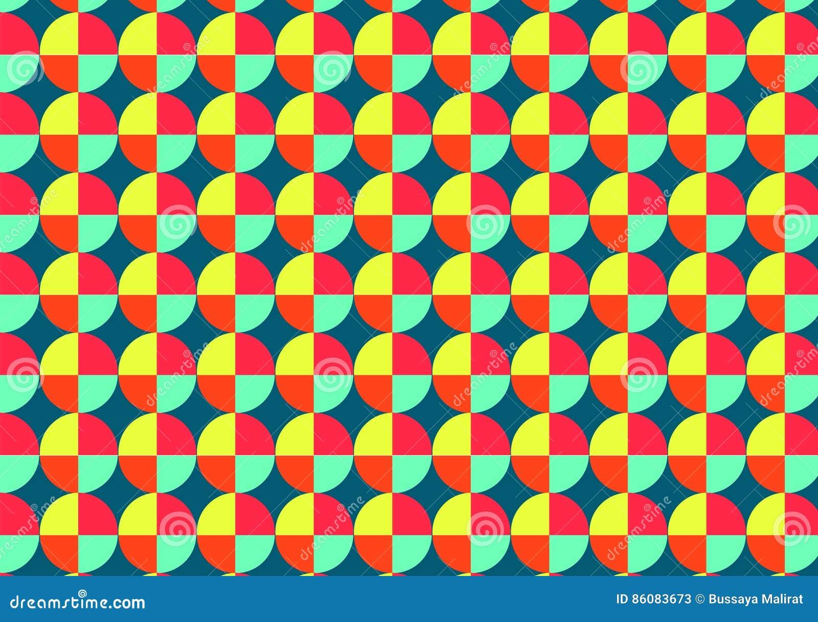 Colorido do teste padrão geomatric do círculo