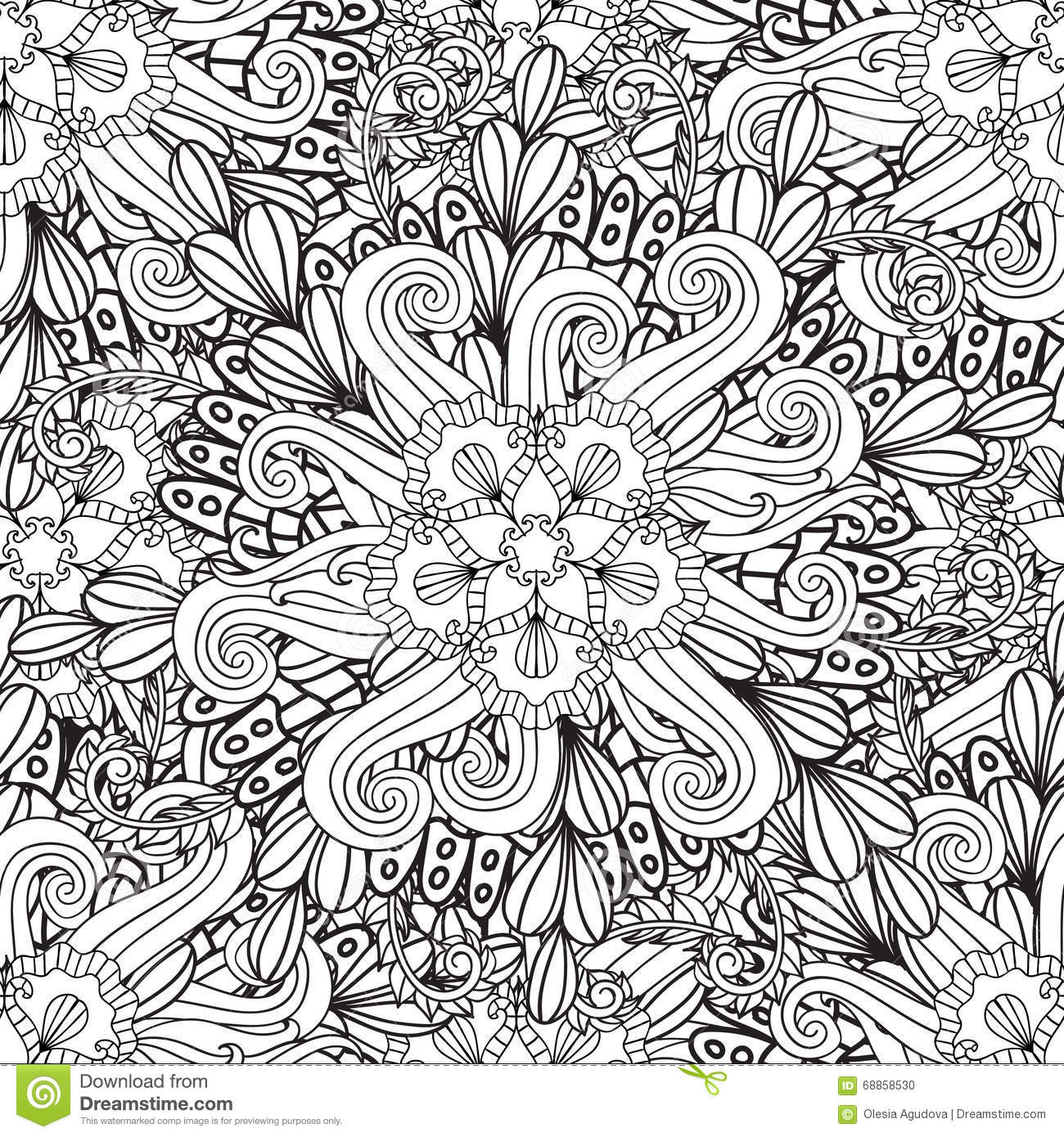 Download Coloring For Adults Ethnic Statue Sculpturedoll With Patterns Print On