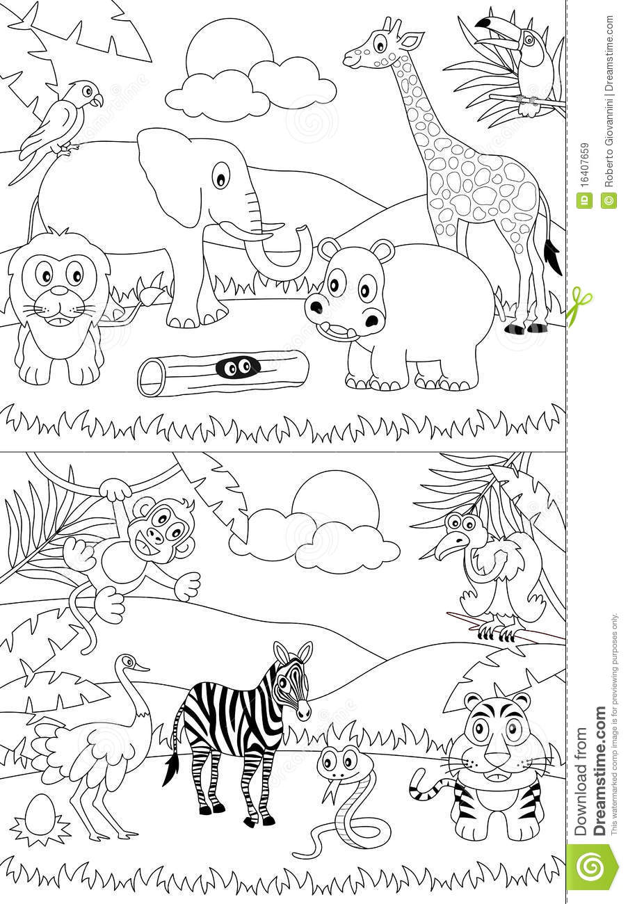 african savanna coloring pages - free savanna animals coloring pages