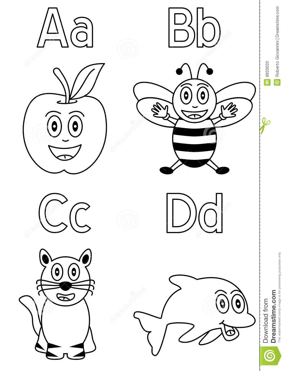Coloring Alphabet For Kids [1] Stock Vector - Illustration of ...