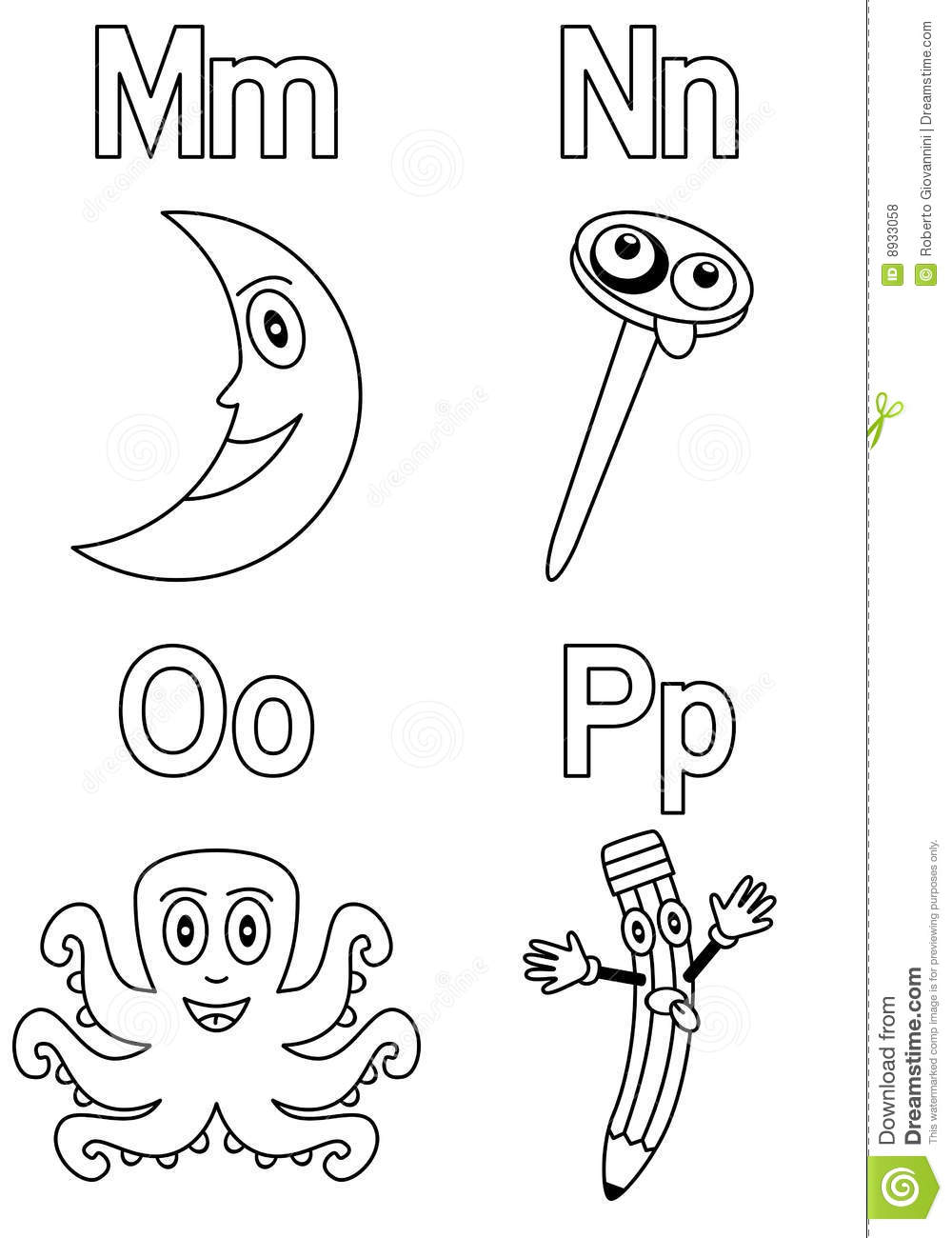Coloring Alphabet For Kids 4 Stock Vector - Illustration ...